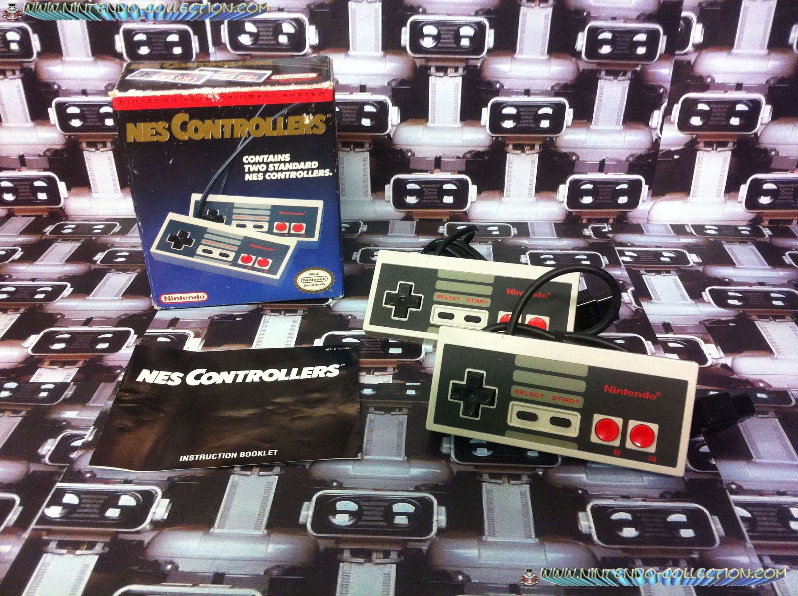 www.nintendo-collection.com - Nes Controllers Pack - Pack Manettes NES Accessoire en boite Us - Acce