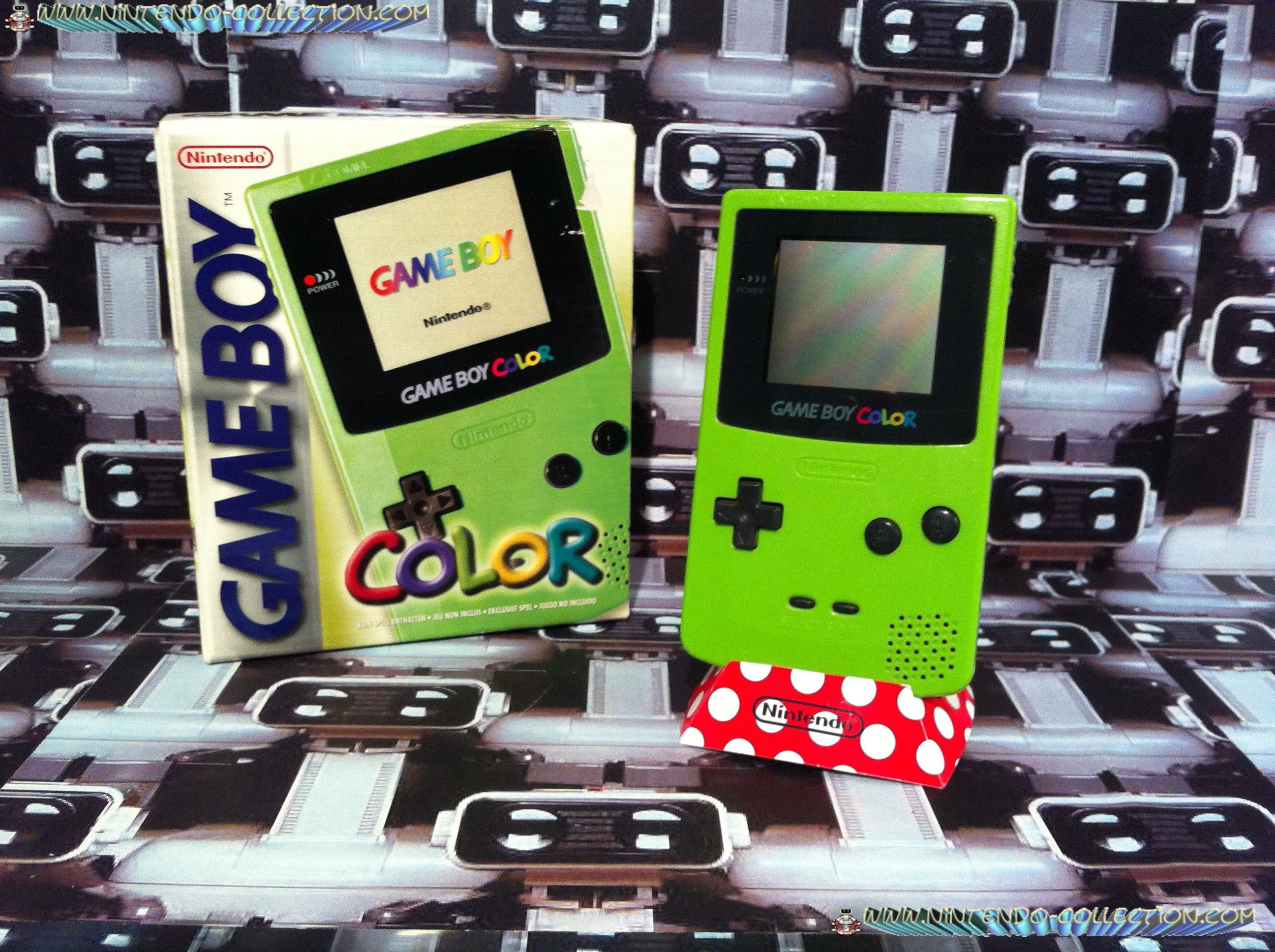 www.nintendo-collection.com - Gameboy Color Kiwi edition Europe european