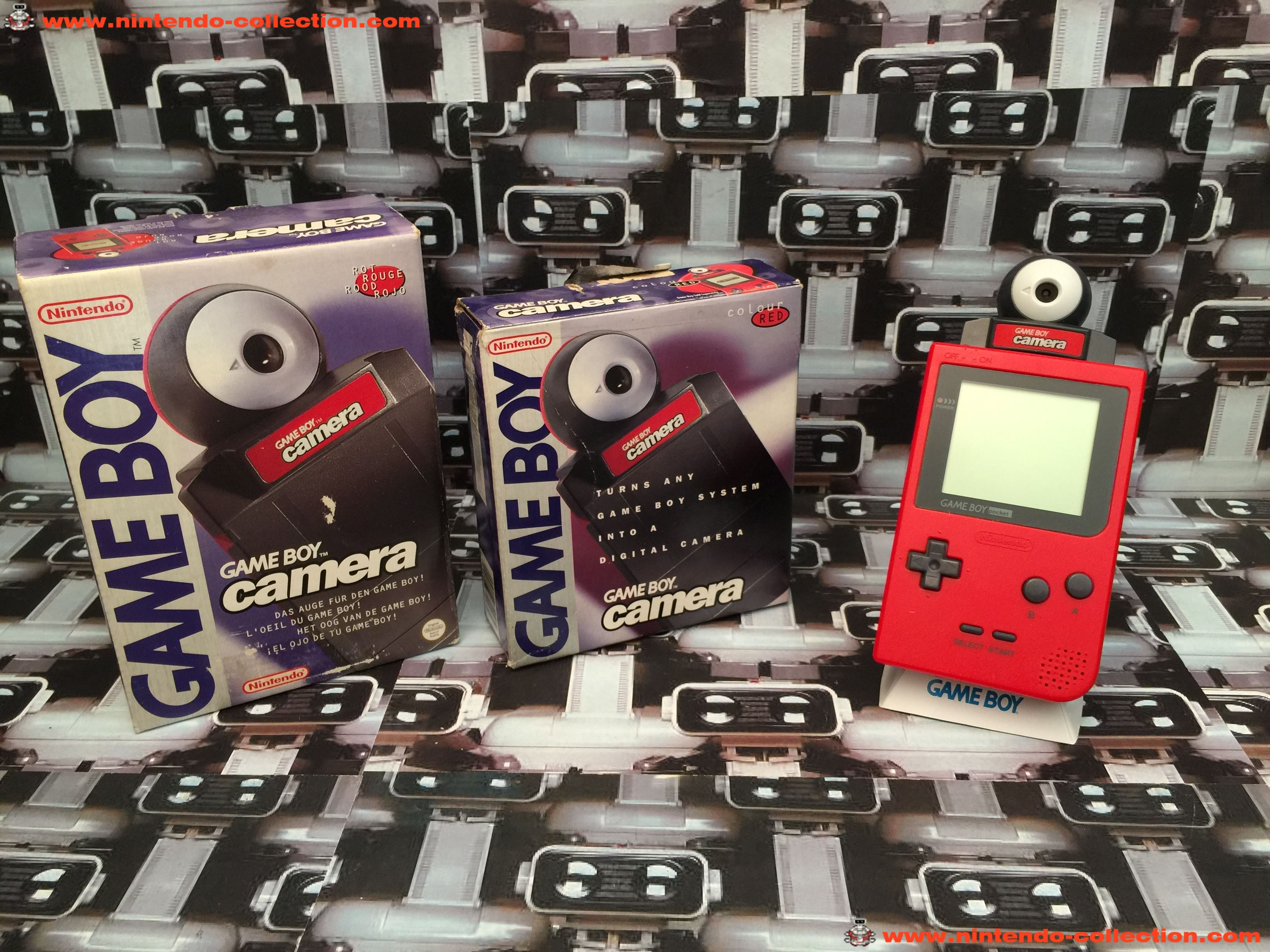 www.nintendo-collection.com - GameBoy Pocket + GameBoy Camera Red Rouge UK Version Royaume-Uni + Eur