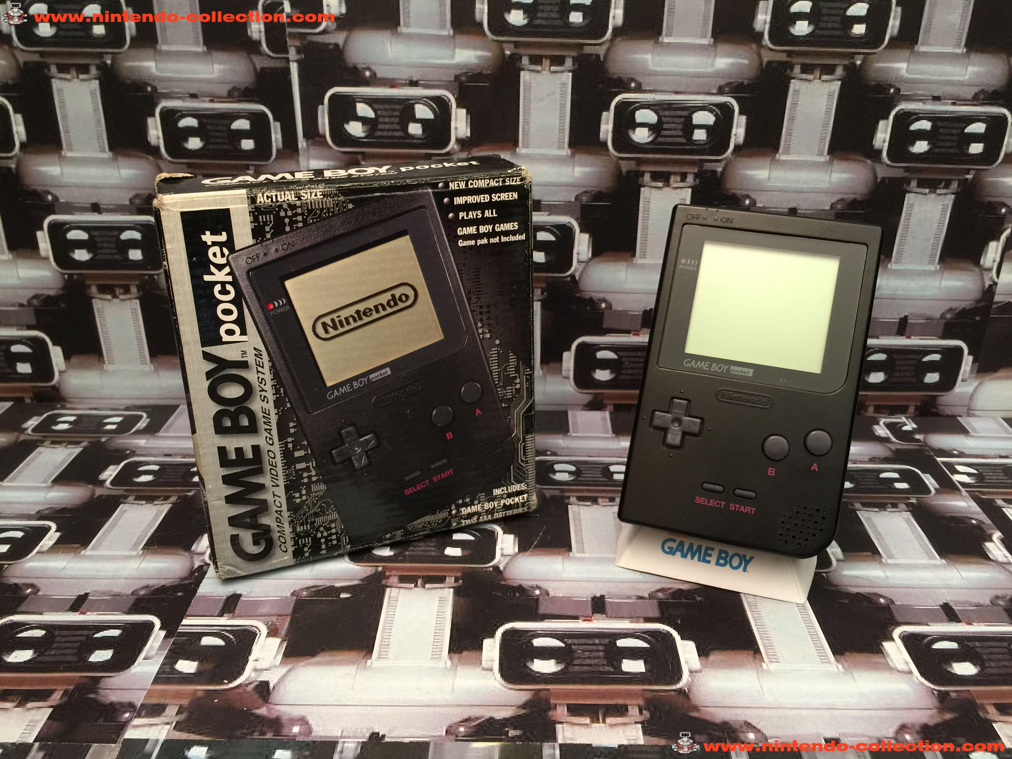 www.nintendo-collection.com - Gameboy GB Pocket Black Noir en boite in box European Europe