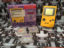 www.nintendo-collection.com - Gameboy GB Yellow Jaune Pack 3 Game PAKS