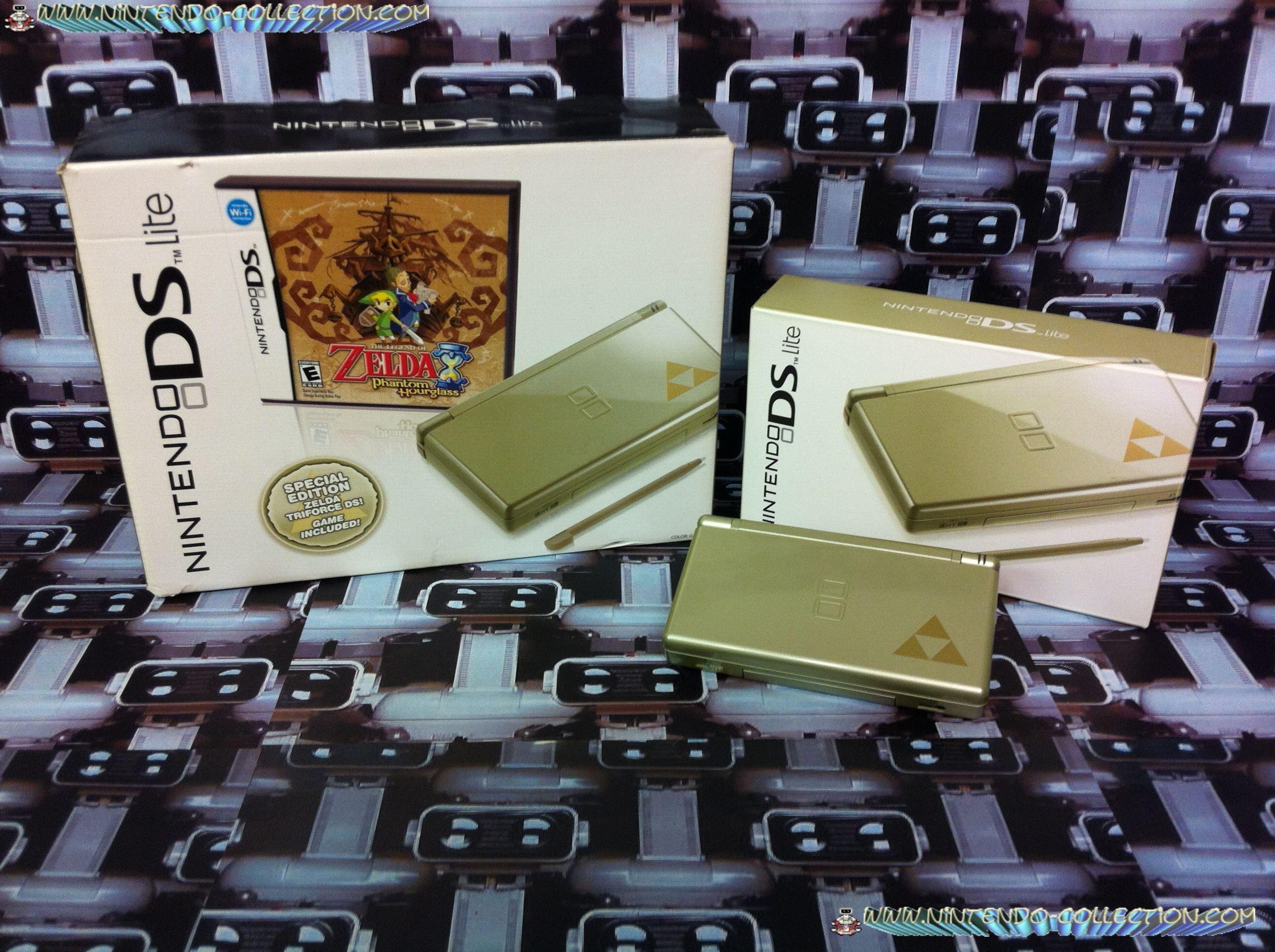 www.nintendo-collection.com -  Nintendo DS Lite Zelda Triforce Gold Version US