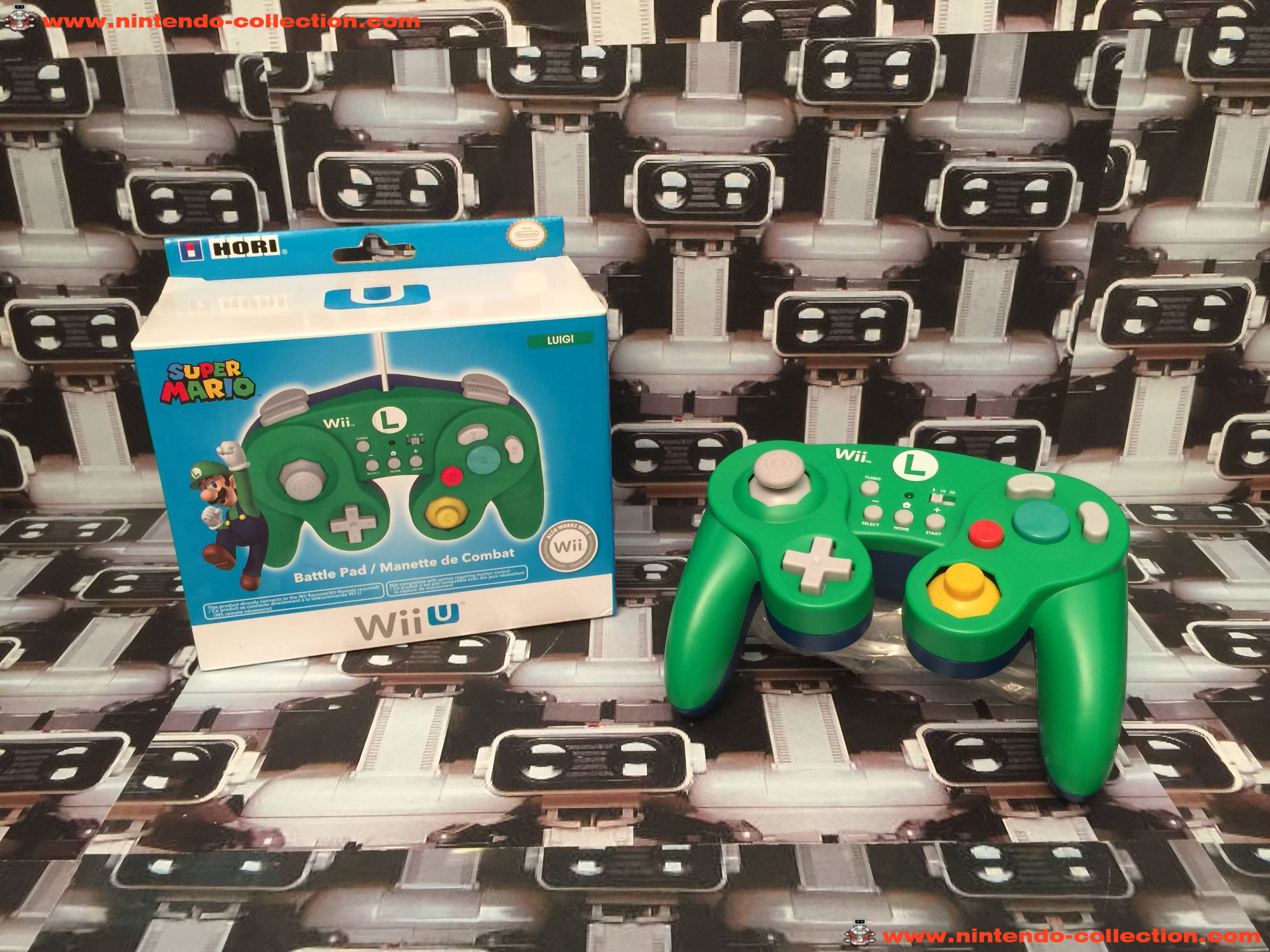 www.nintendo-collection.com - Nintendo Wii U Accessory Accessoire Hori Gamecube Bttle Pad Luigi Cont