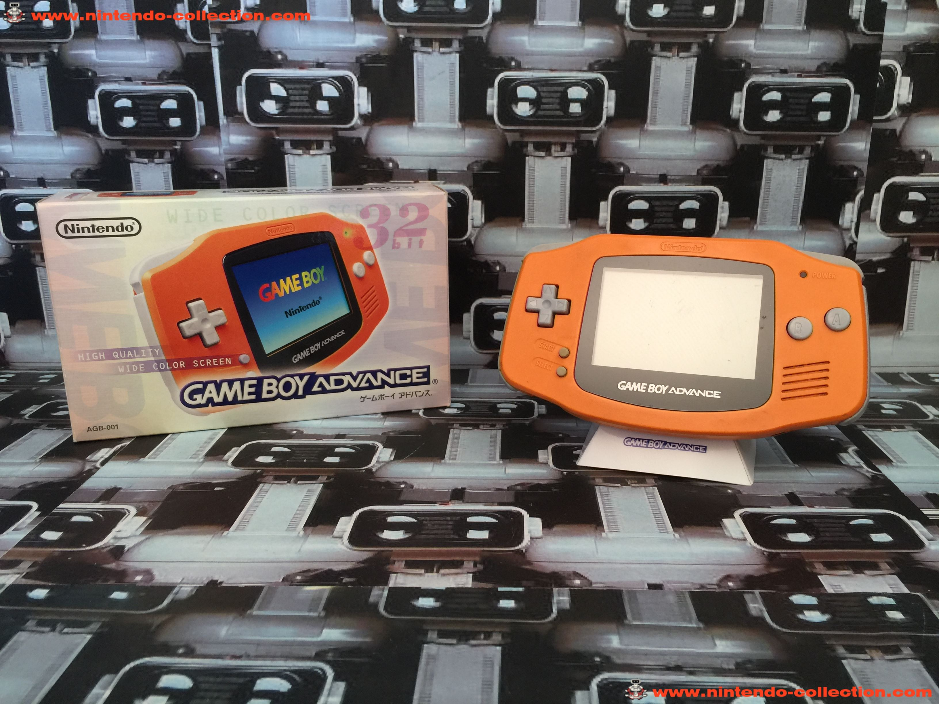 www.nintendo-collection.com - Gameboy Advance GBA Spicy Orange Japanese Japan Japonaise