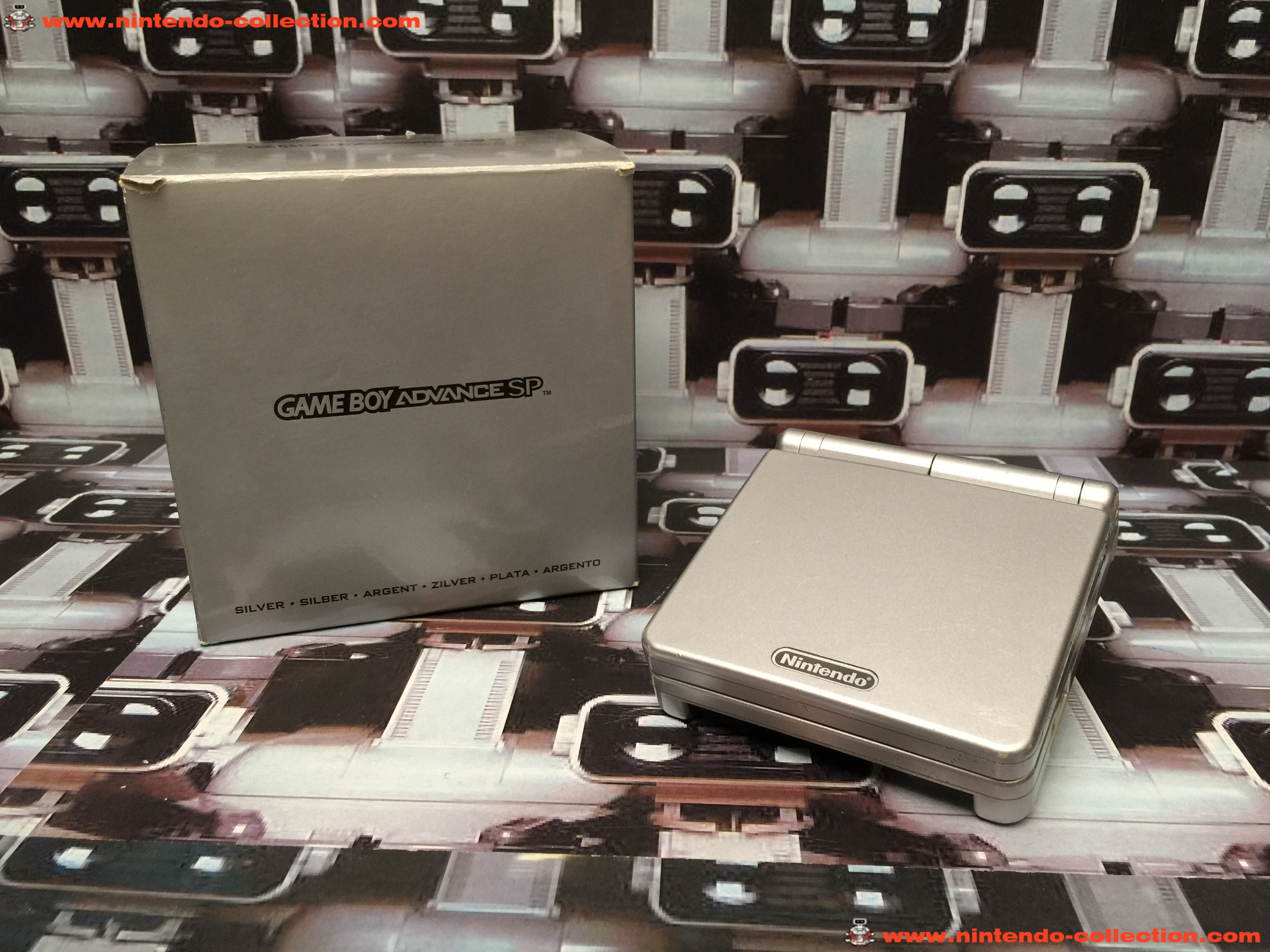 www.nintendo-collection.com - Gameboy Advance GBA SP Silver Argent Edition europeenne european - 01
