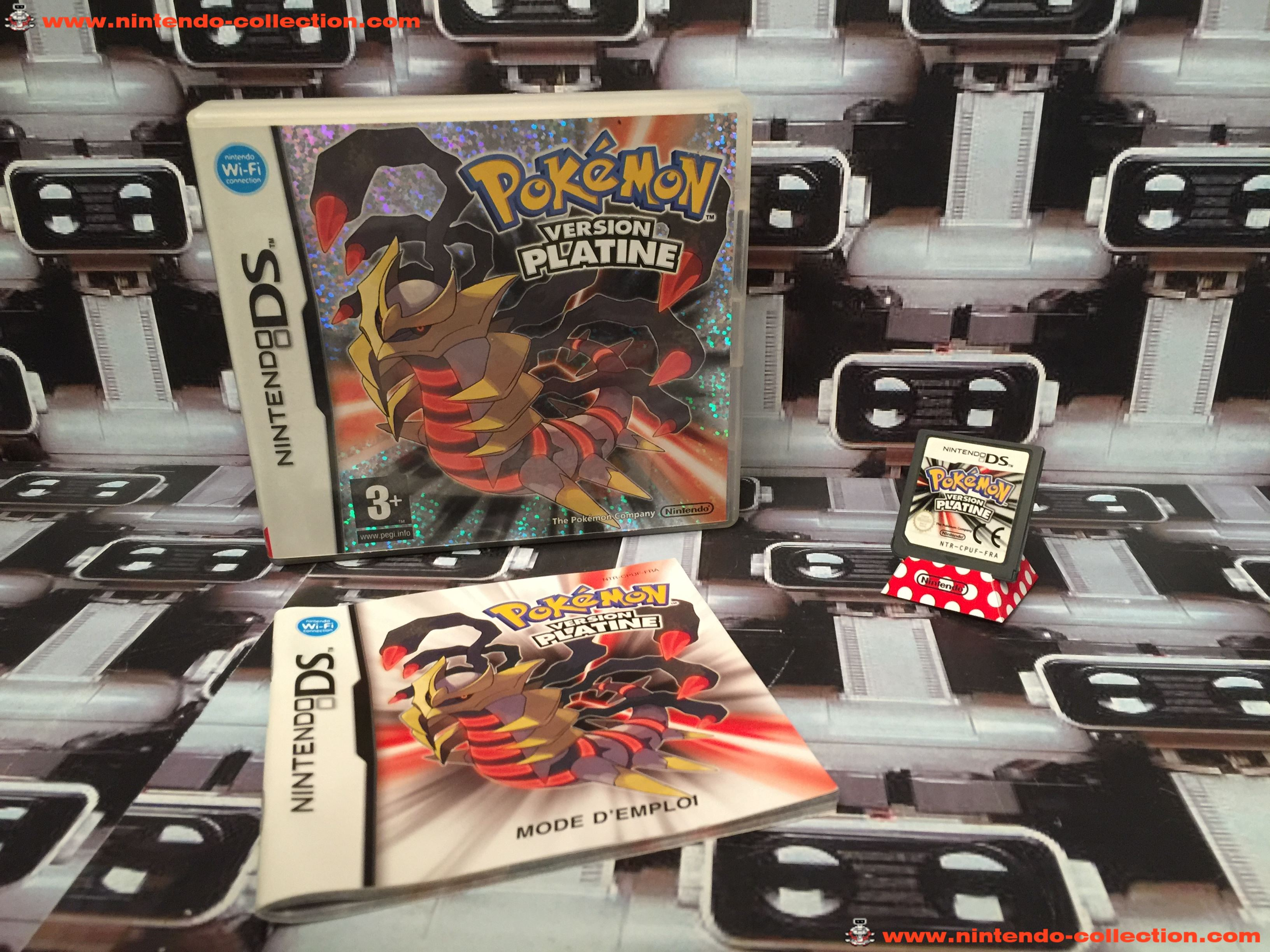 www.nintendo-collection.com - Nintendo DS Jeux Game Pokemon Version Platine Euro Fr