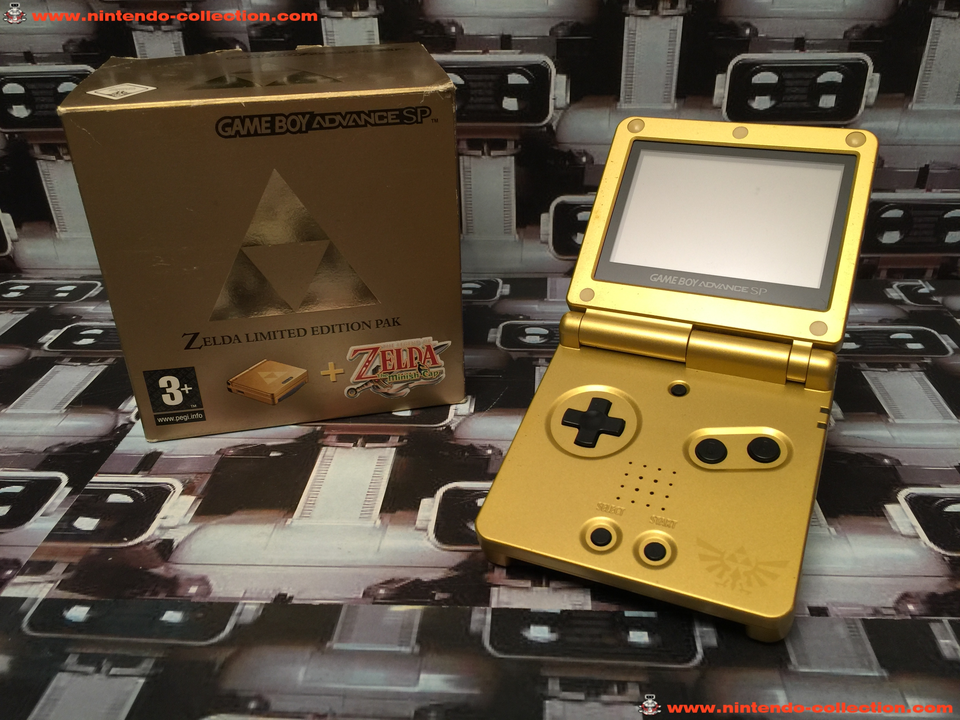 www.nintendo-collection.com - Gameboy Advance GBA SP Zelda Edition europeenne european - 02