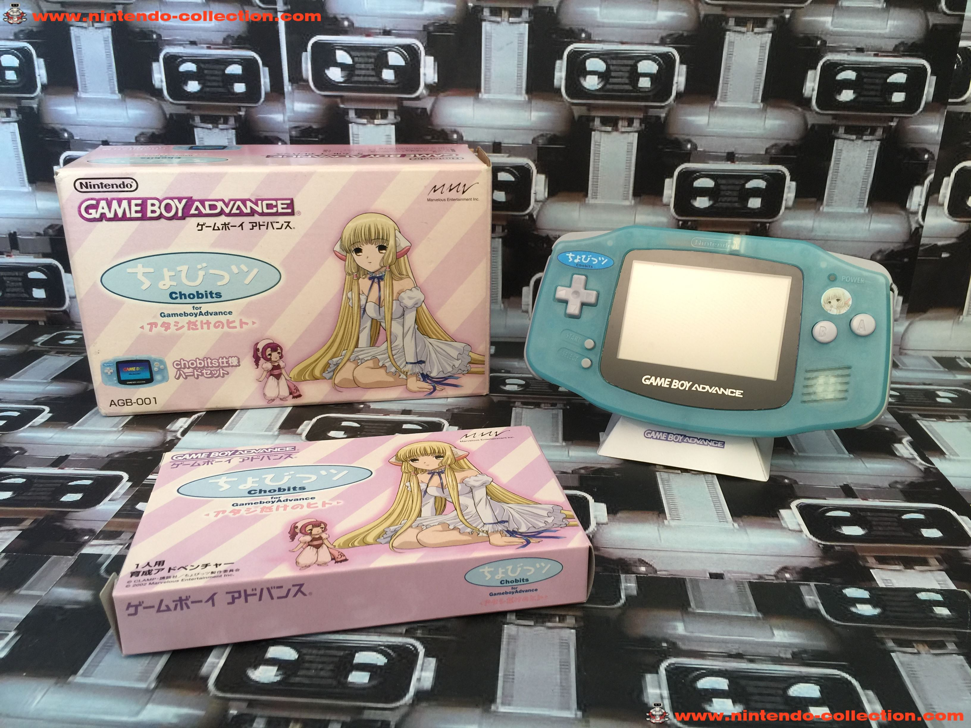 www.nintendo-collection.com - Gameboy Advance GBA Chobits Atashi Dake no Hito Limited Edition Clear