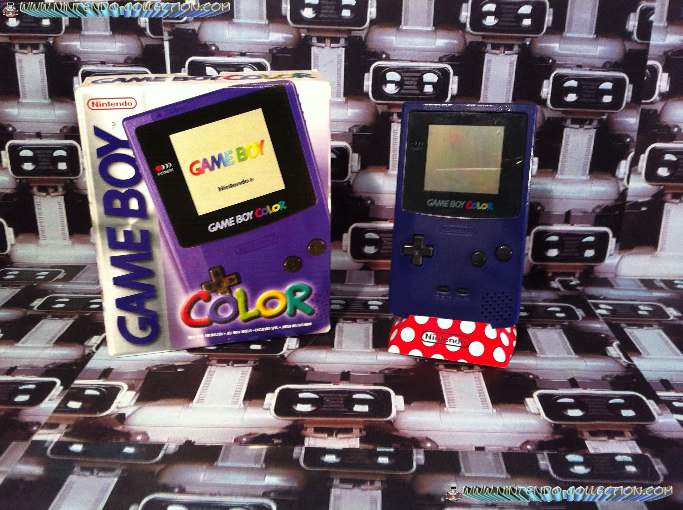 www.nintendo-collection.com - Gameboy Color violette purple edition european europe