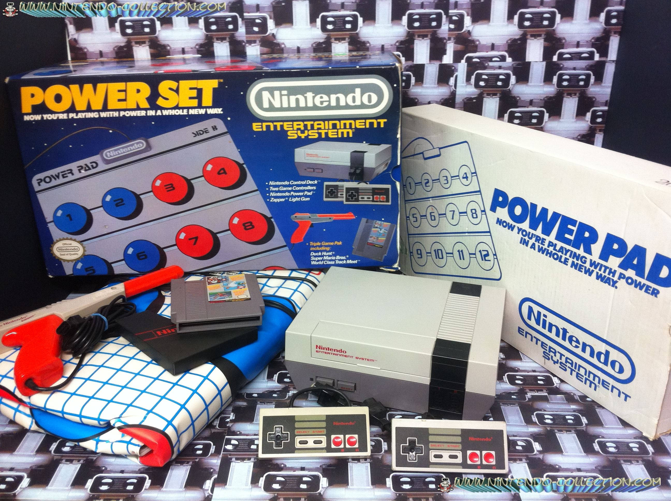 www.nintendo-collection.com - Nintendo NES Power Set - Version Zapper Orange - Pack US