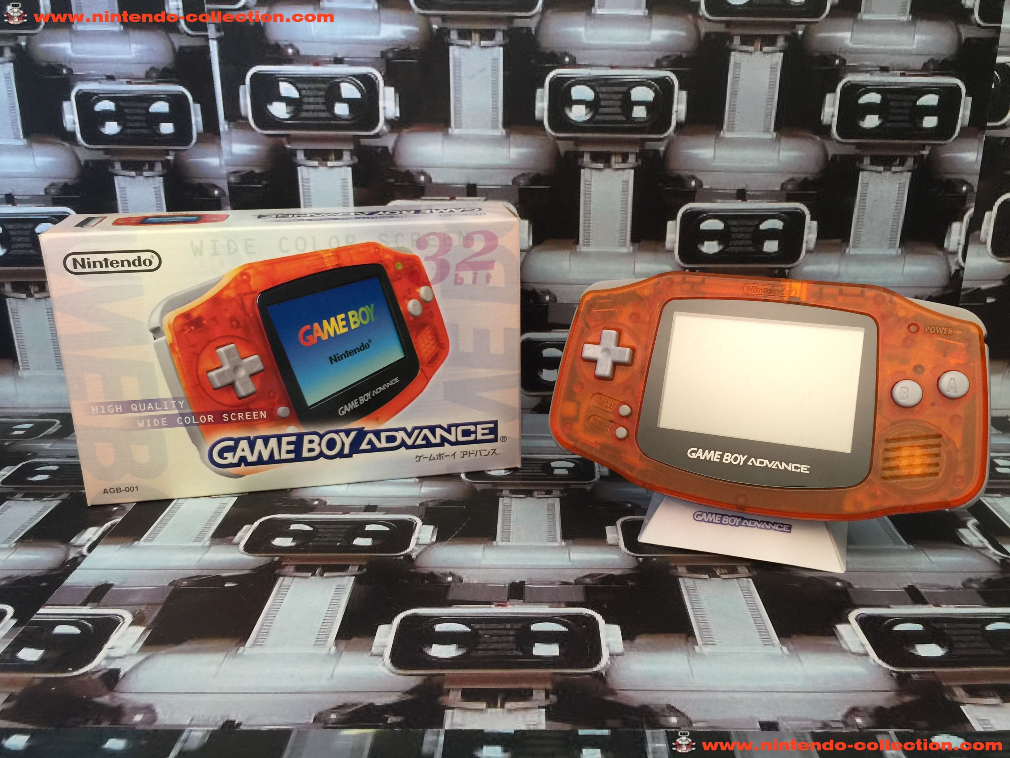 www.nintendo-collection.com - Gameboy Advance GBA Daiei Limited Edition Clear orange Clear black noi