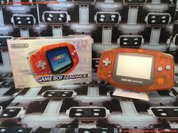 www.nintendo-collection.com - Gameboy Advance GBA Daiei Limited Edition Clear orange Clear black noi