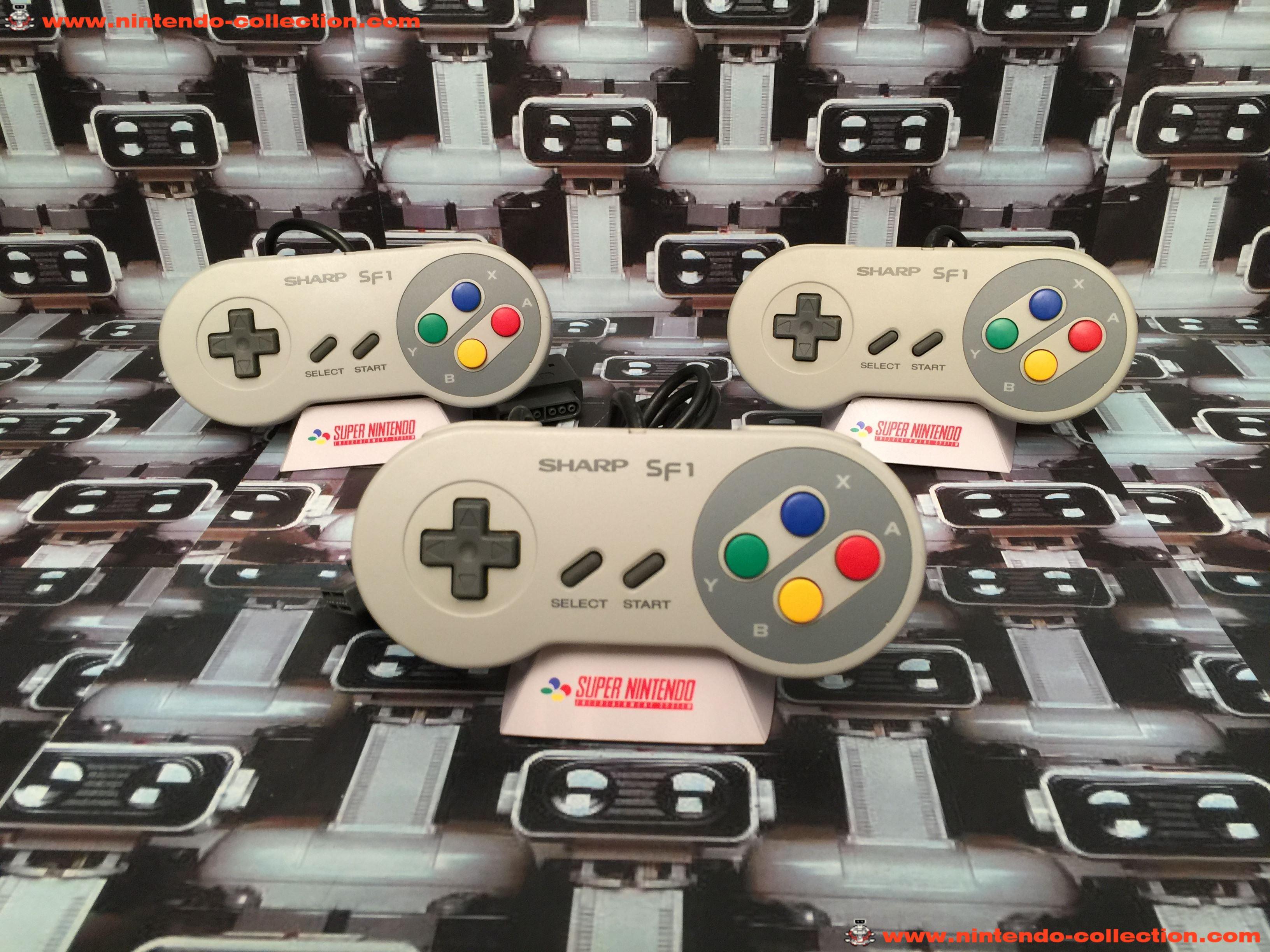 www.nintendo-collection.com - Super Nintendo SNES Super Famicom Sharp SF-1 Controller Manette - 02
