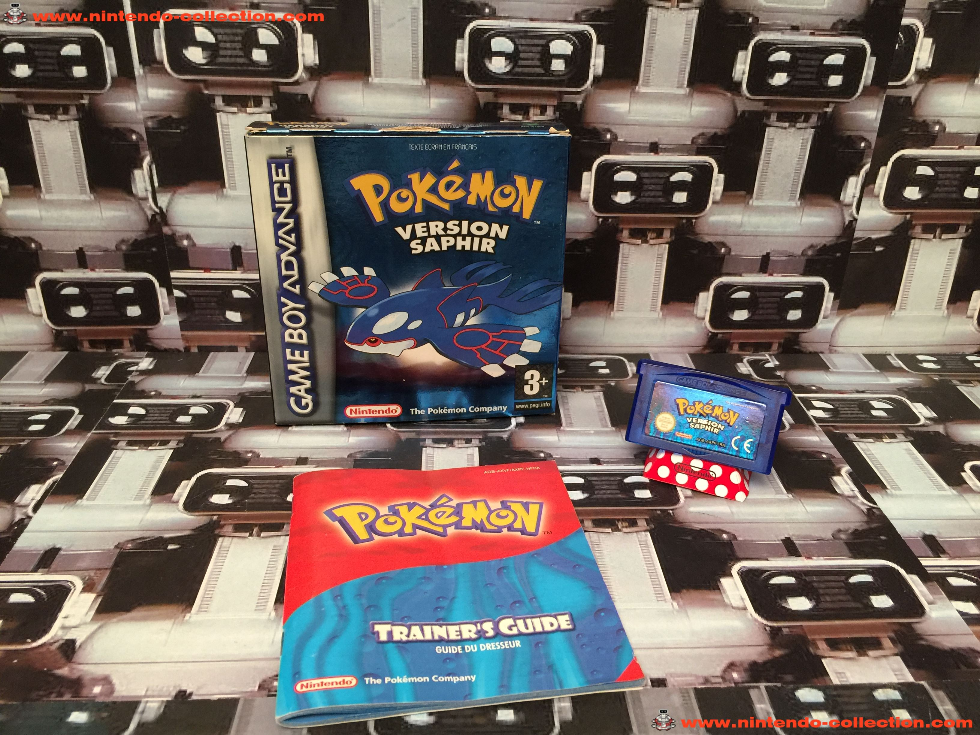 www.nintendo-collection.com - Gameboy Advance GBA Game Jeux Pokemon Saphir French Francaise Version