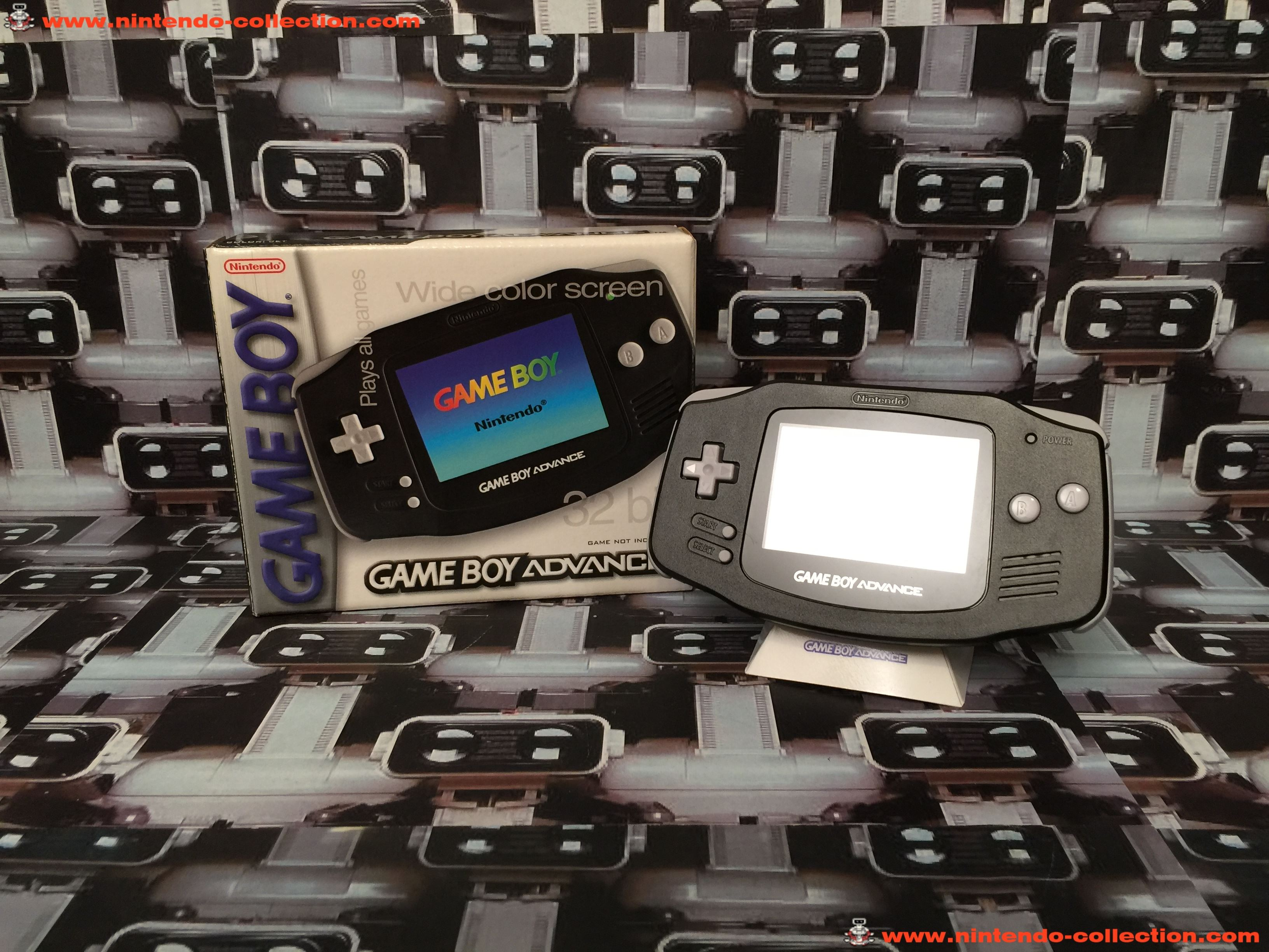 www.nintendo-collection.com - Gameboy Advance GBA E reader Bundle Limited edition Black Noir Austali