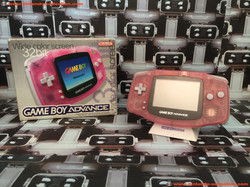 www.nintendo-collection.com - Gameboy Advance GBA Clear Milky Pink Rose Transparent european europee