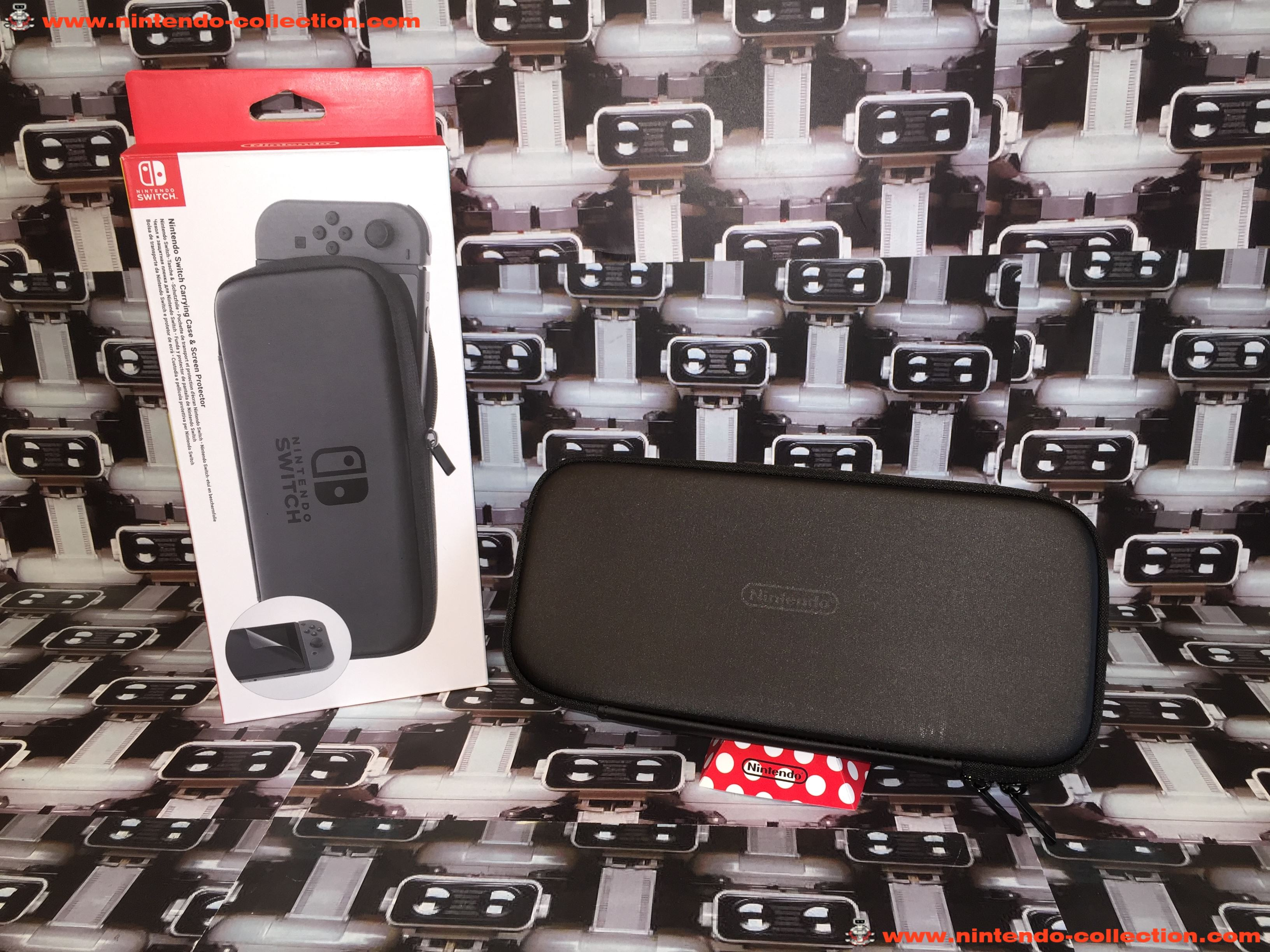 www.nintendo-collection.com - Nintendo Switch Carrying Case Sacoche et Screen Protector