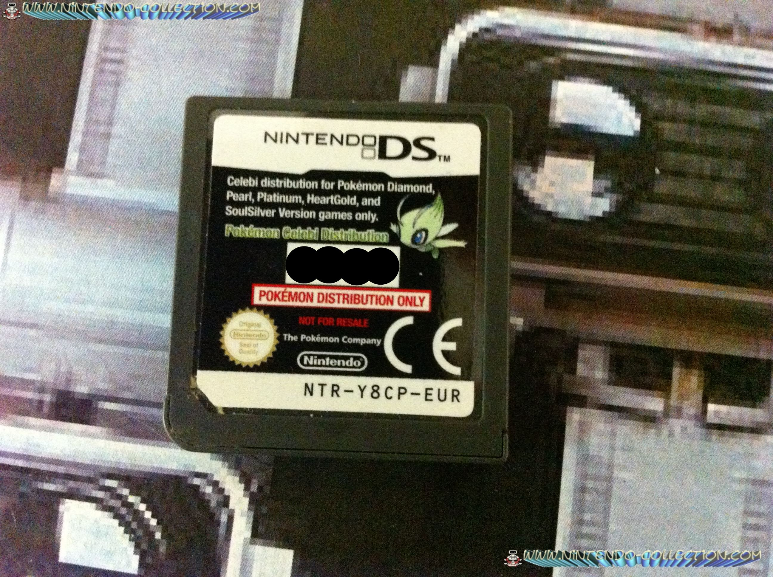 www.nintendo-collection.com - Demo DS 3DS - Not For Resale - Europe Celebi Pokemon Distribution