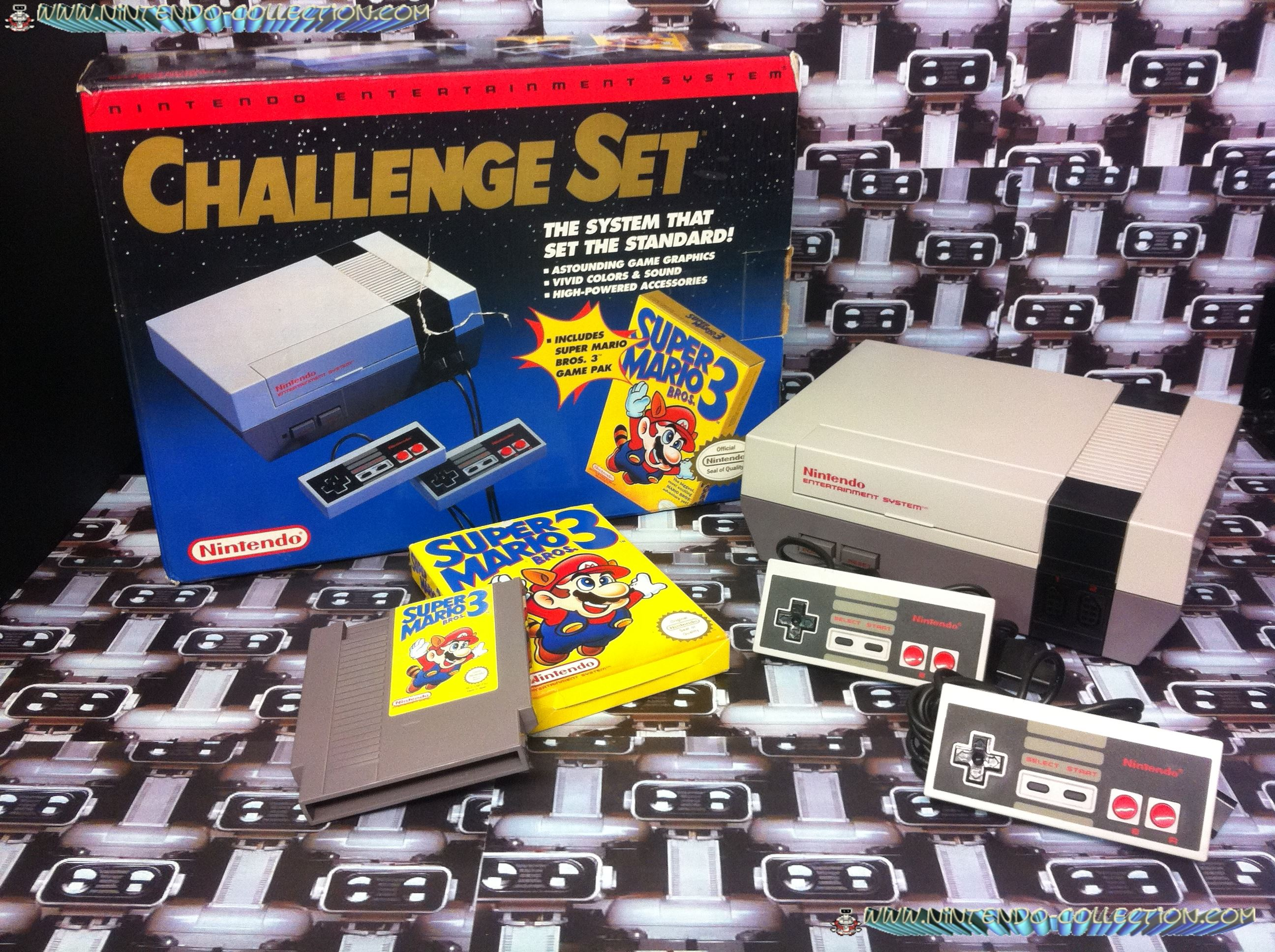 www.nintendo-collection.com - Nintendo NES Challenge Set - Red Line - ligne rouge - Pack US