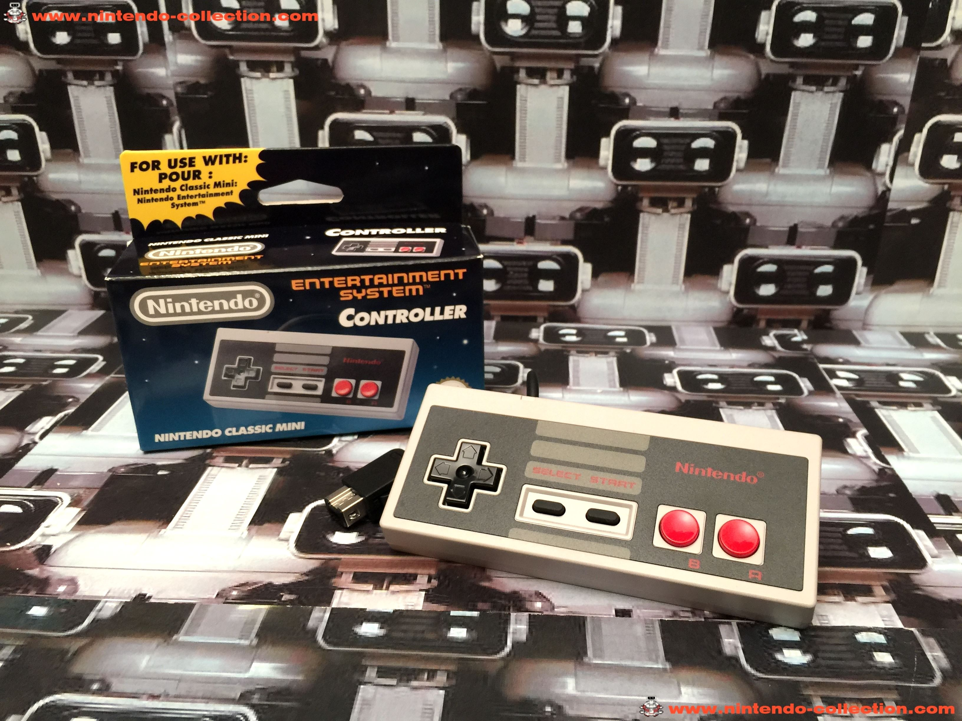 www.nintendo-collection.com - Nintendo Classic Mini Controller Manette Nes Nintendo Entertainment sy