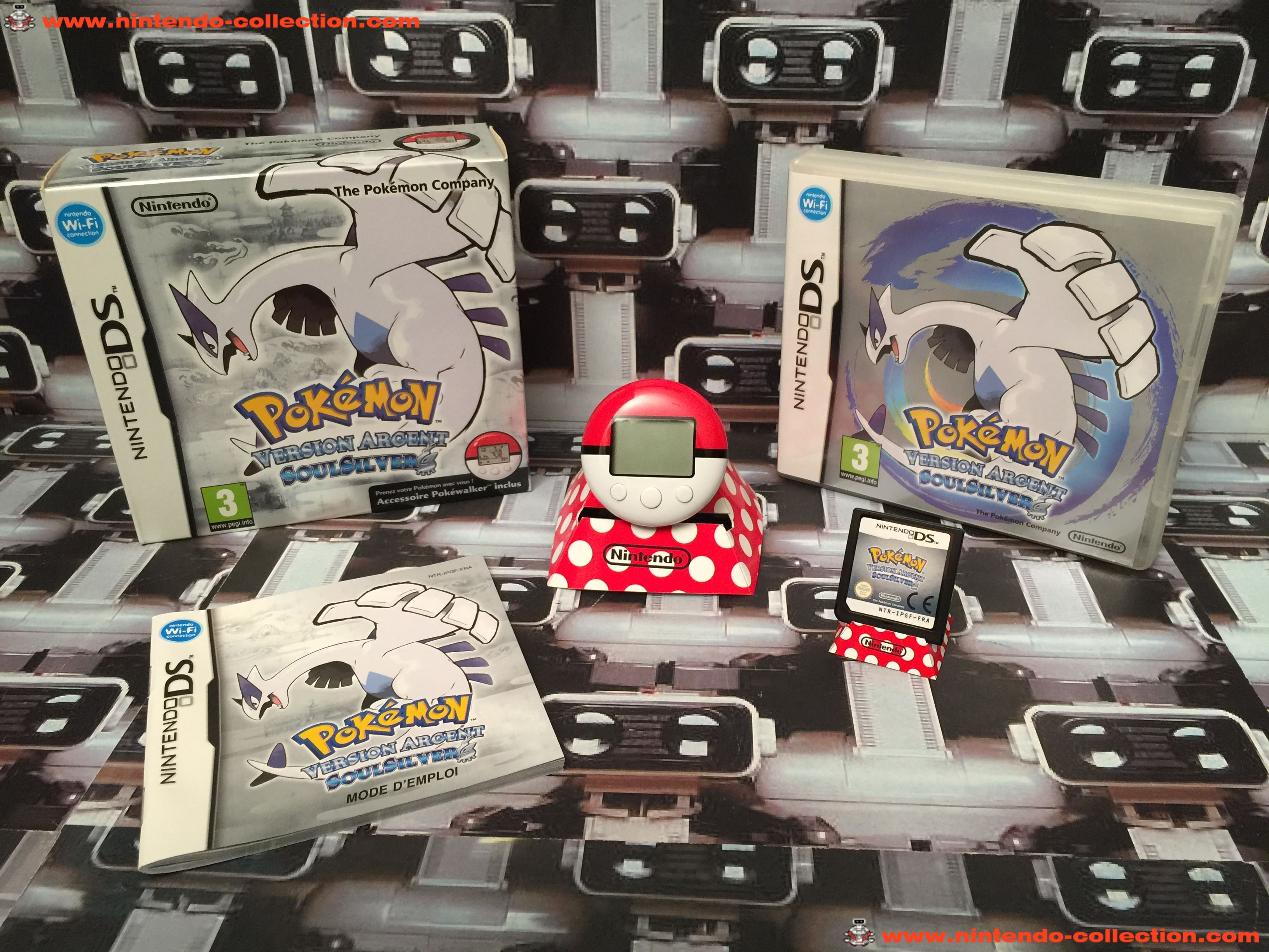 www.nintendo-collection.com - Nintendo DS Jeux Game Pokemon Version Silver Argent Pokewalker Euro Fr