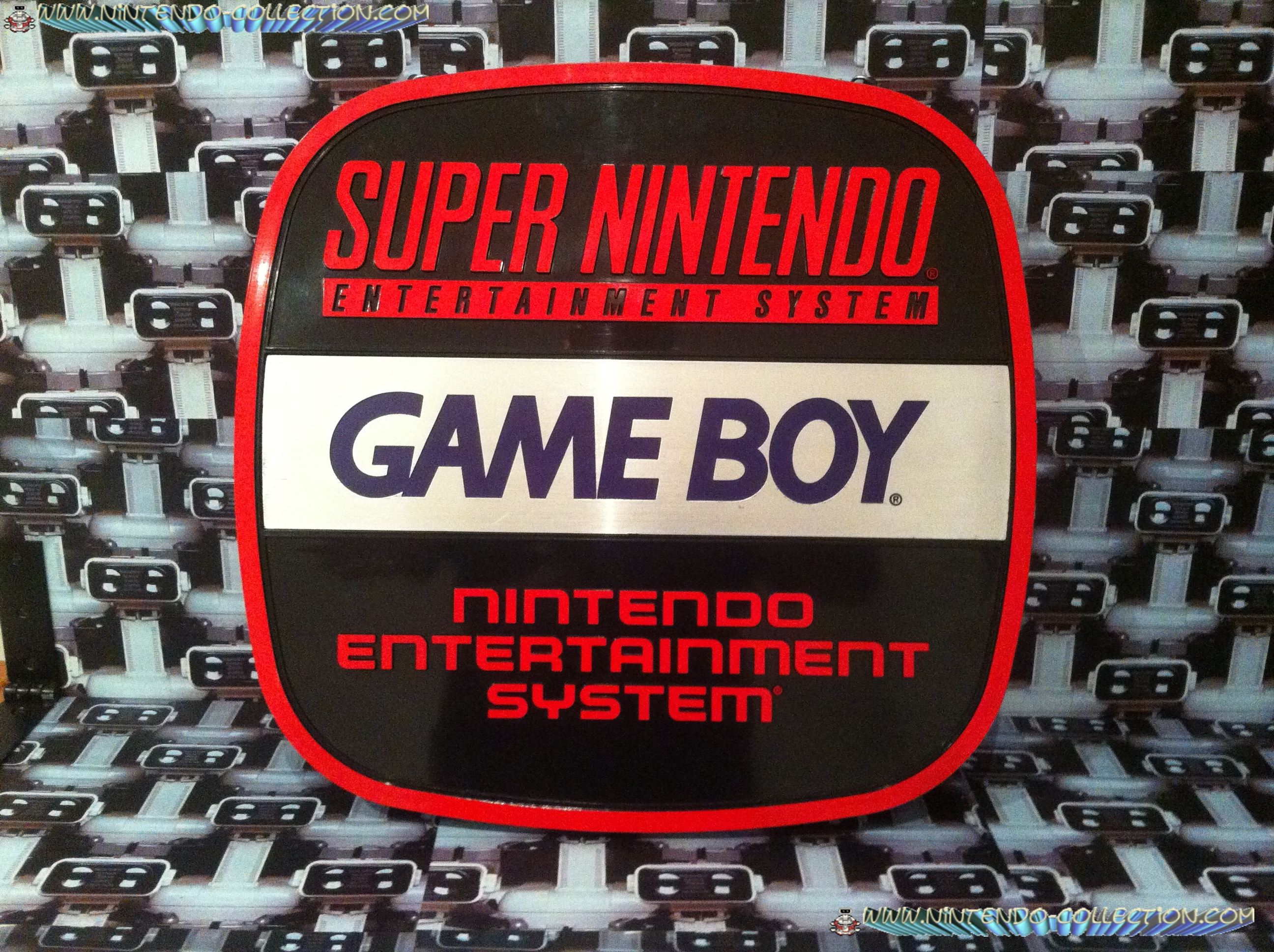 www.nintendo-collection.com - Enseigne Nintendo Entertainment System NES Gameboy Super Nintendo SNES