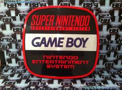 www.nintendo-collection.com - Enseigne Nintendo Entertainment System NES Gameboy Super Nintendo SNES