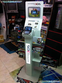 www.nintendo-collection.com - Borne 3DS XL LL - 3DS XL LL Demo store display kiosk