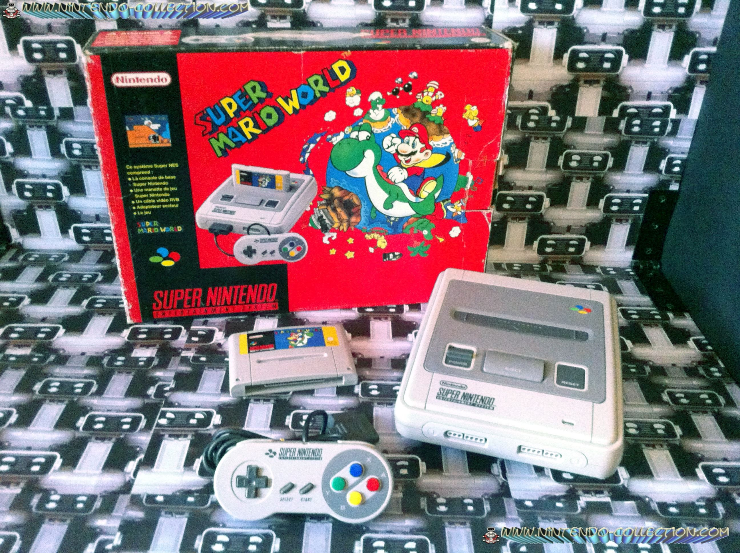 www.nintendo-collection.com - Super Nintendo Super Famicom Super Nes Pack Super Mario World Rouge Re