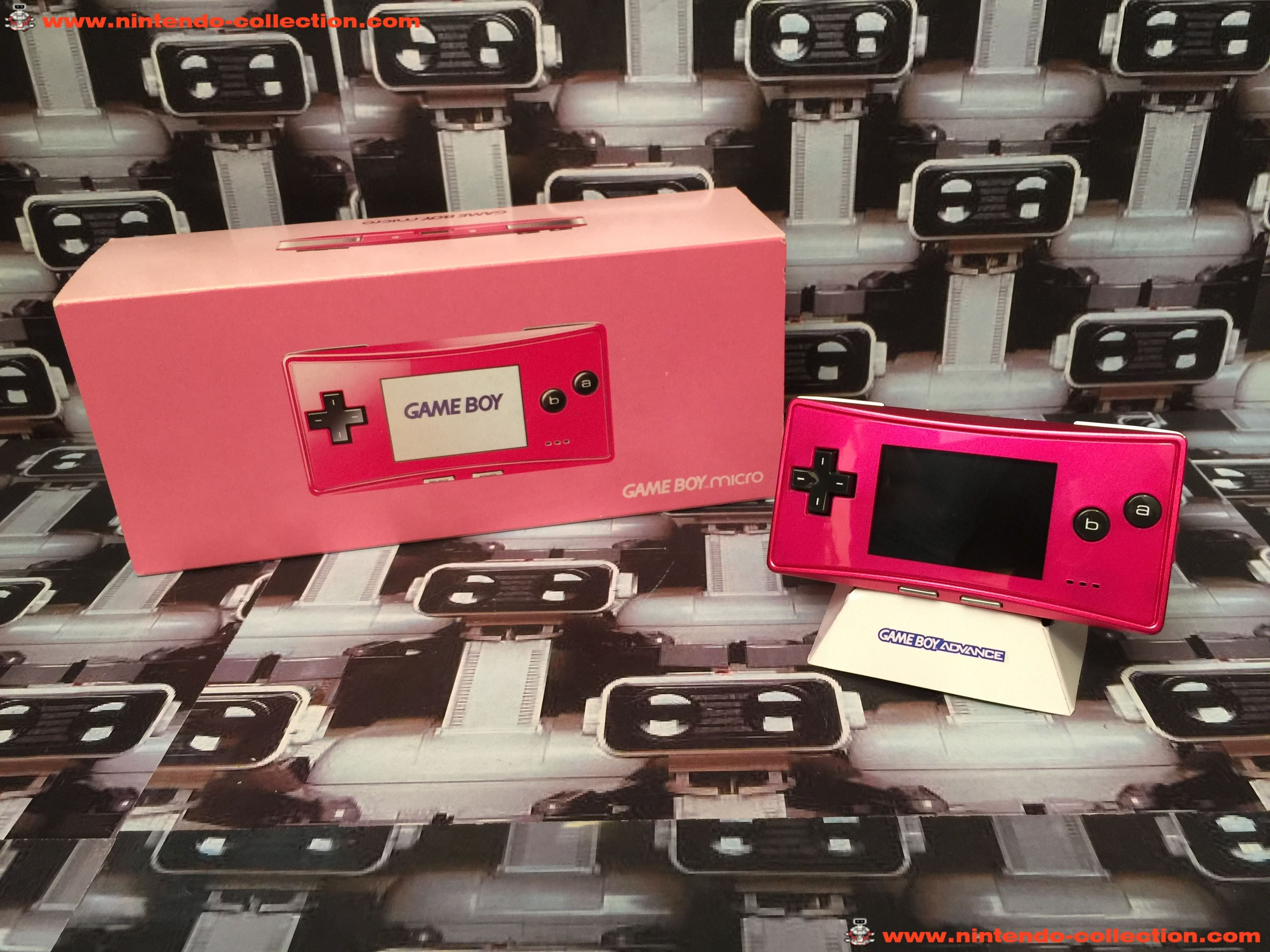 www.nintendo-collection.com - Gameboy Advance GBA Micro Pink rose european version europeenne  versi