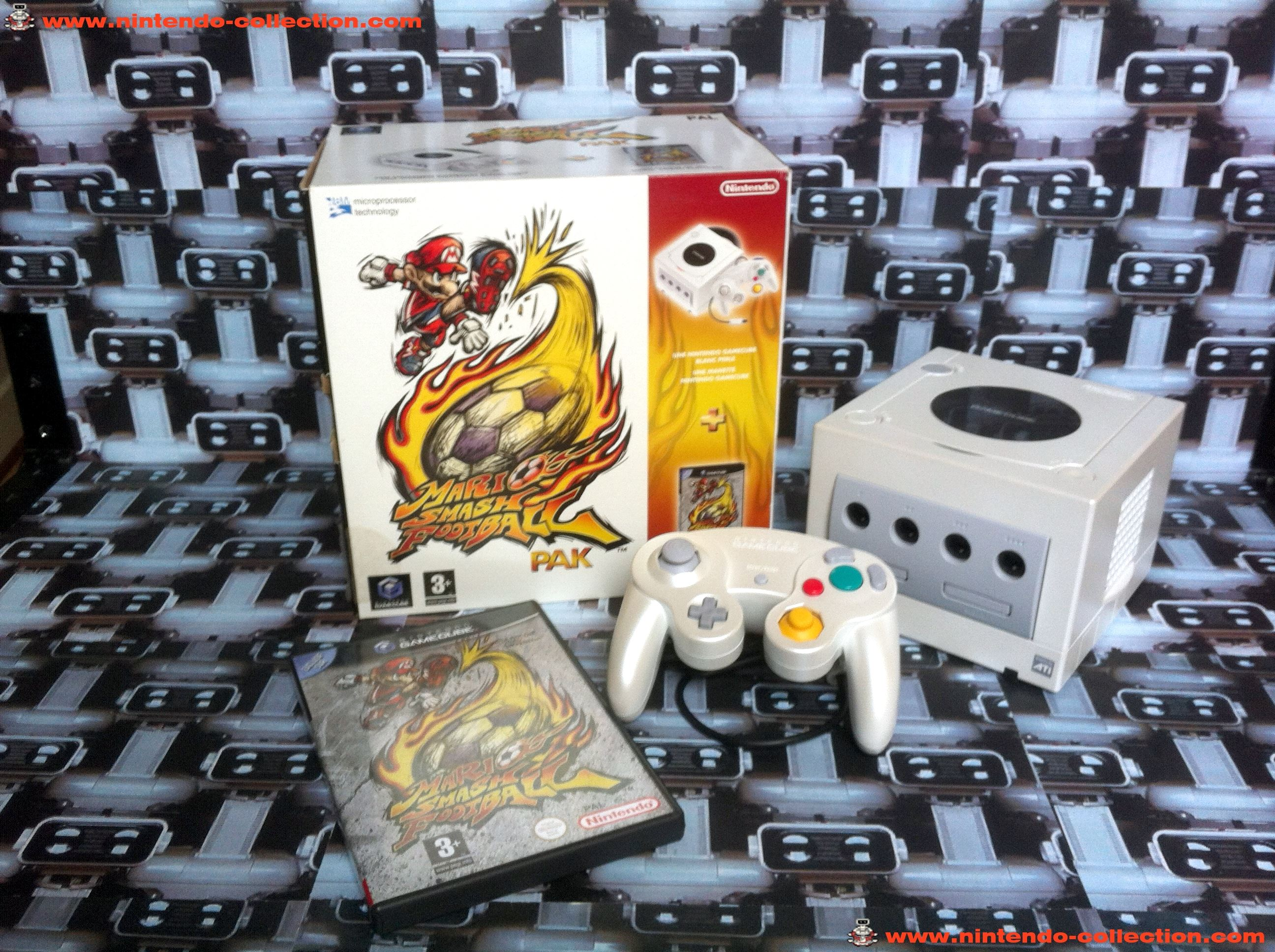 www.nintendo-collection.com - Gamecube Mario smash Footbal Limited Edition White Blanche European Eu