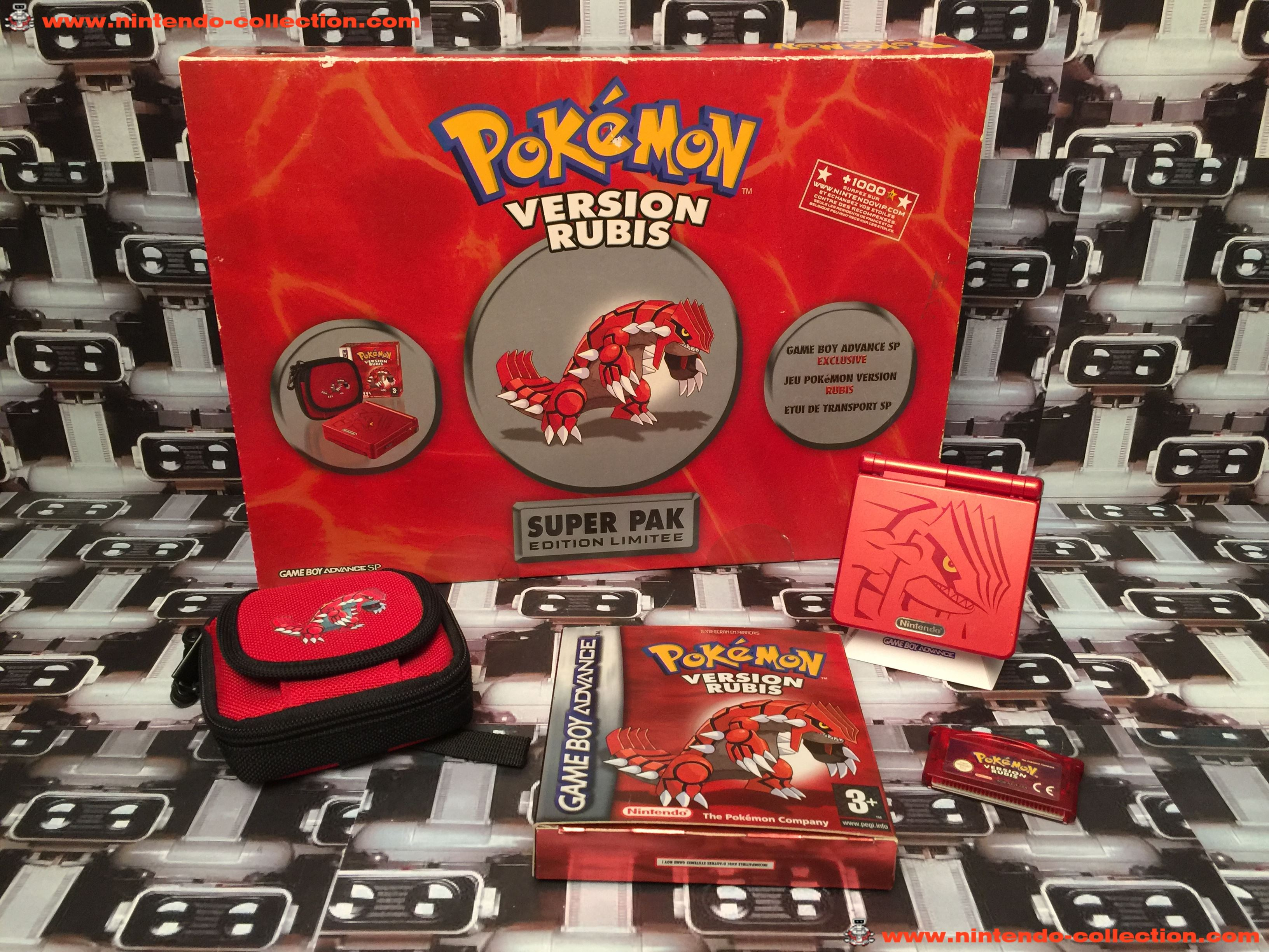 www.nintendo-collection.com - Gameboy Advance SP Super Pack Collector Pokemon Version Rubis - 03
