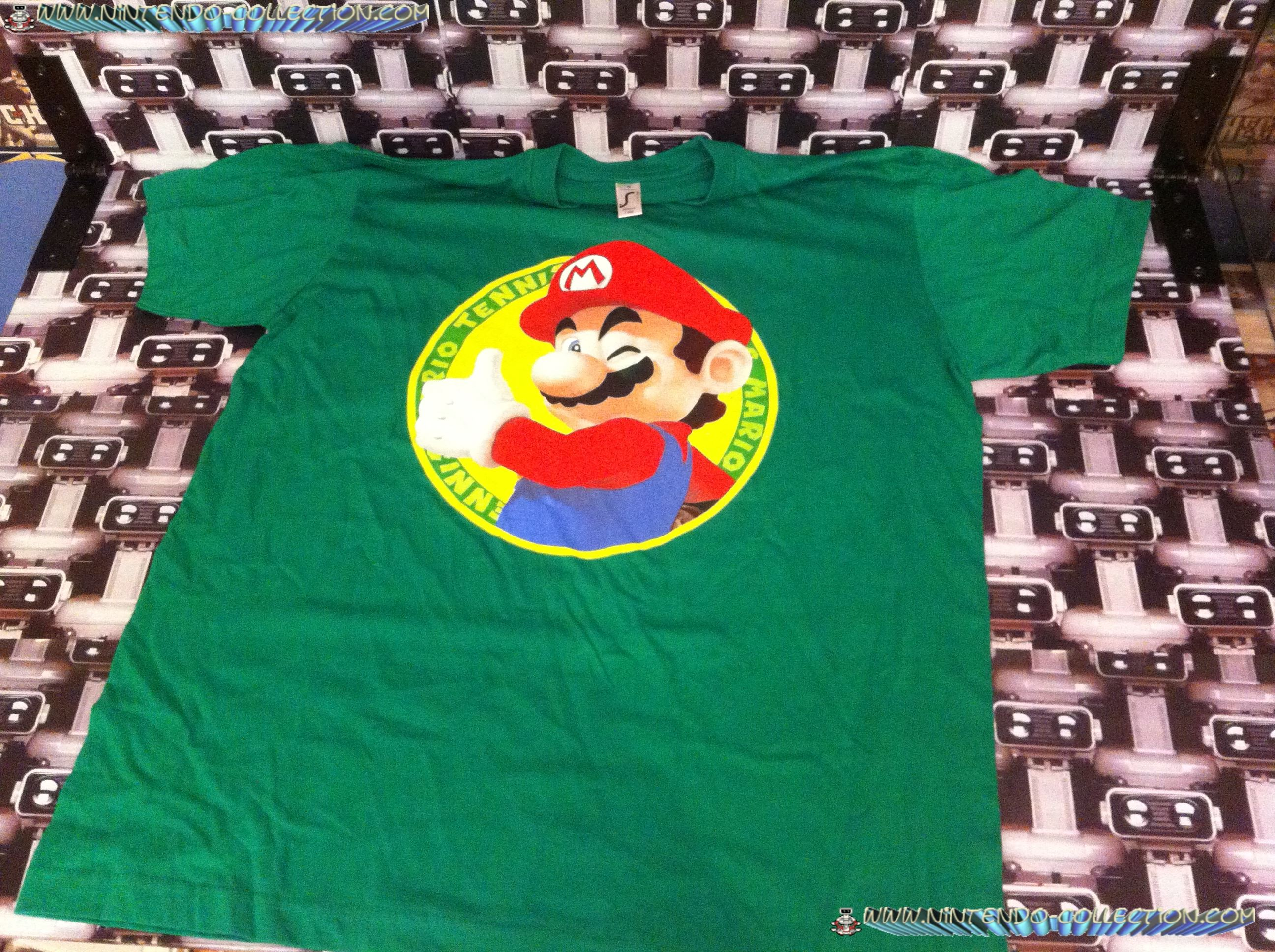 www.nintendo-collection.com - Tee-Shirt de Pre-Reservation de Mario Tennis Open - Nor For Resale - D