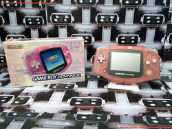 www.nintendo-collection.com - Gameboy Advance GBA Clear Milky Pink Rose Transparent Japanese Japan J