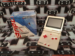 www.nintendo-collection.com - Gameboy Advance GBA SP Rip Curl Limited Edition Australian New Zealand