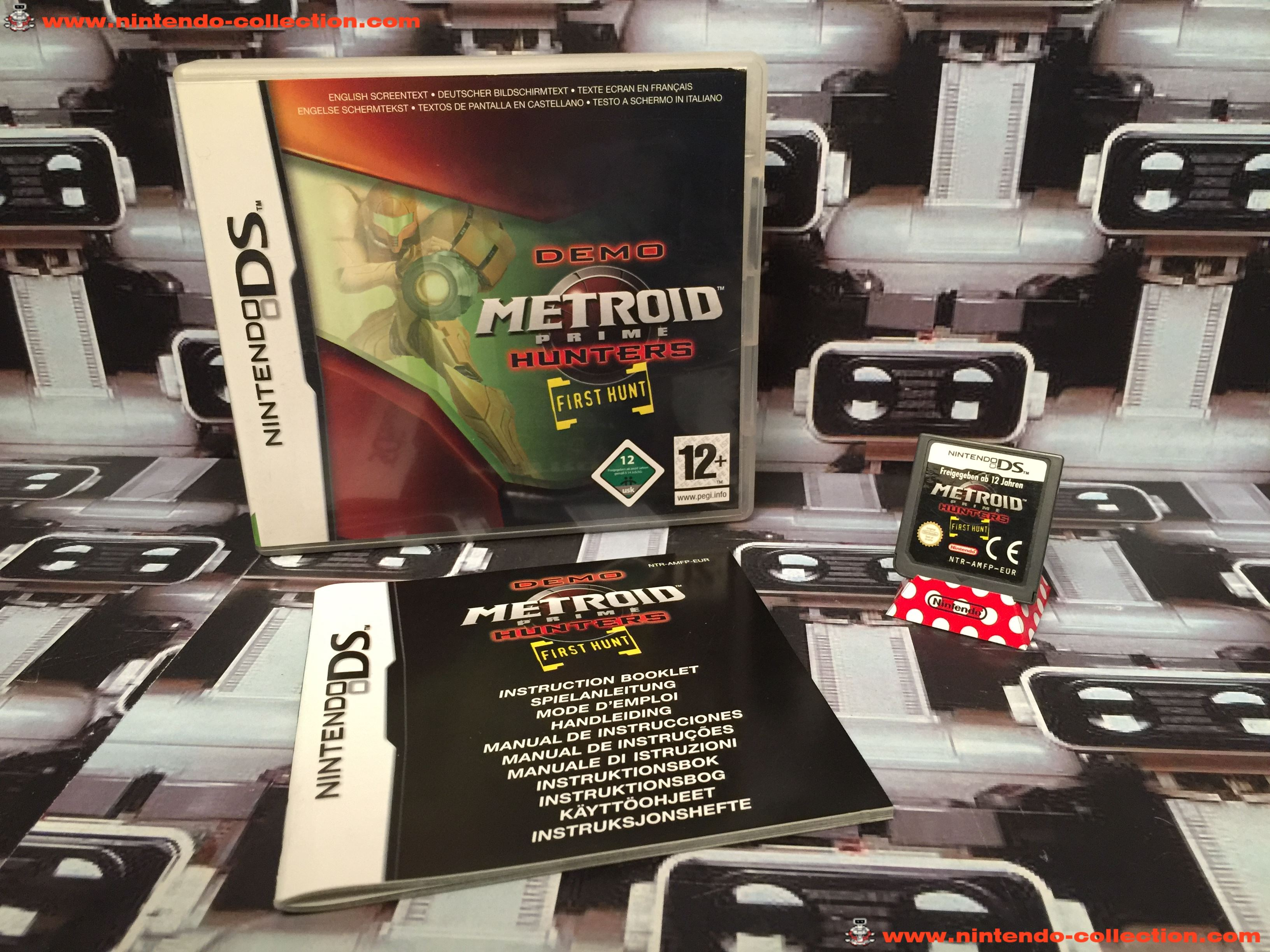 www.nintendo-collection.com - Nintendo DS Jeux Game Demo Metroid Prime Hunters First Hunt Euro
