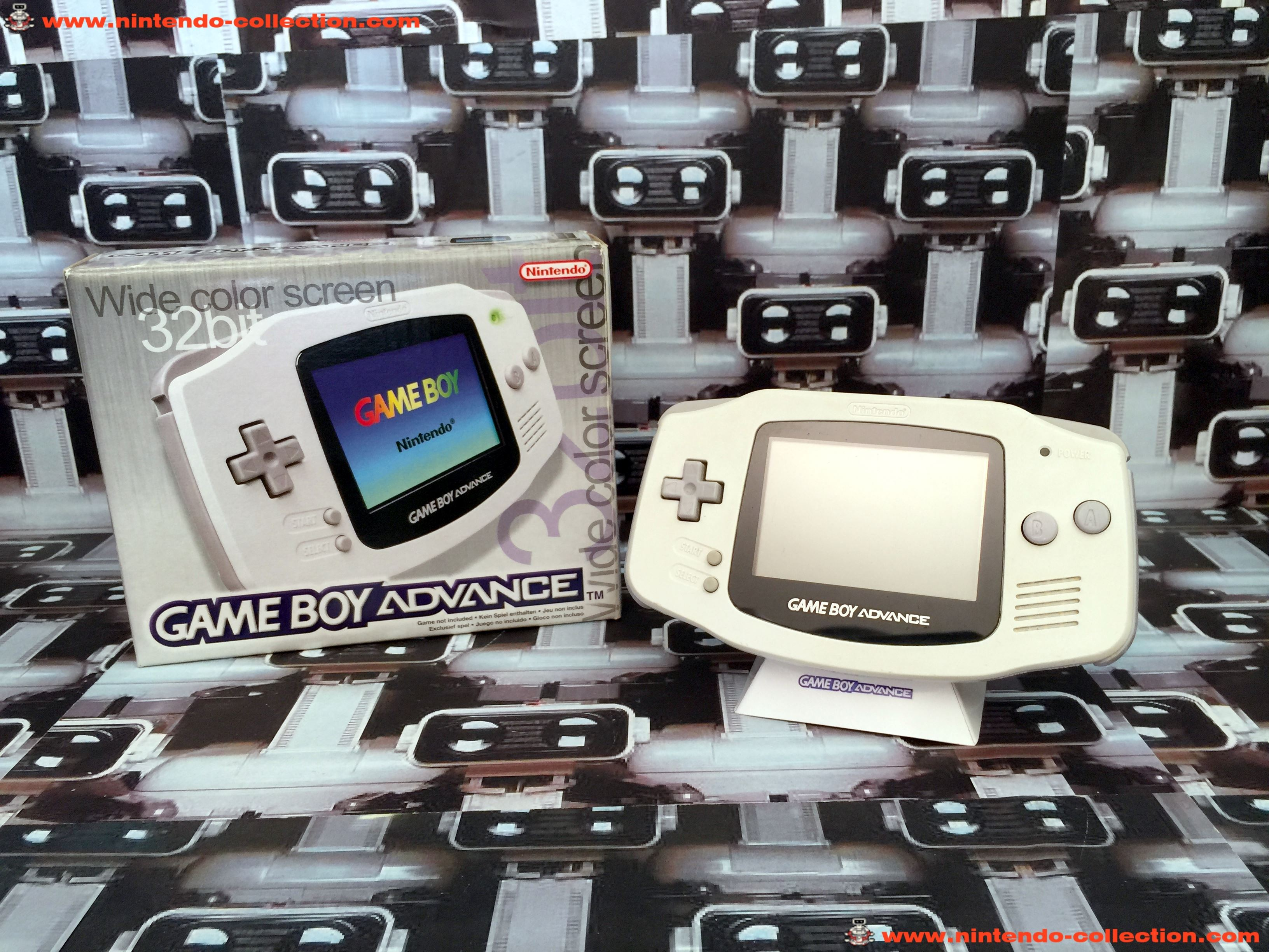 www.nintendo-collection.com - Gameboy Advance GBA White Blanche european europeenne