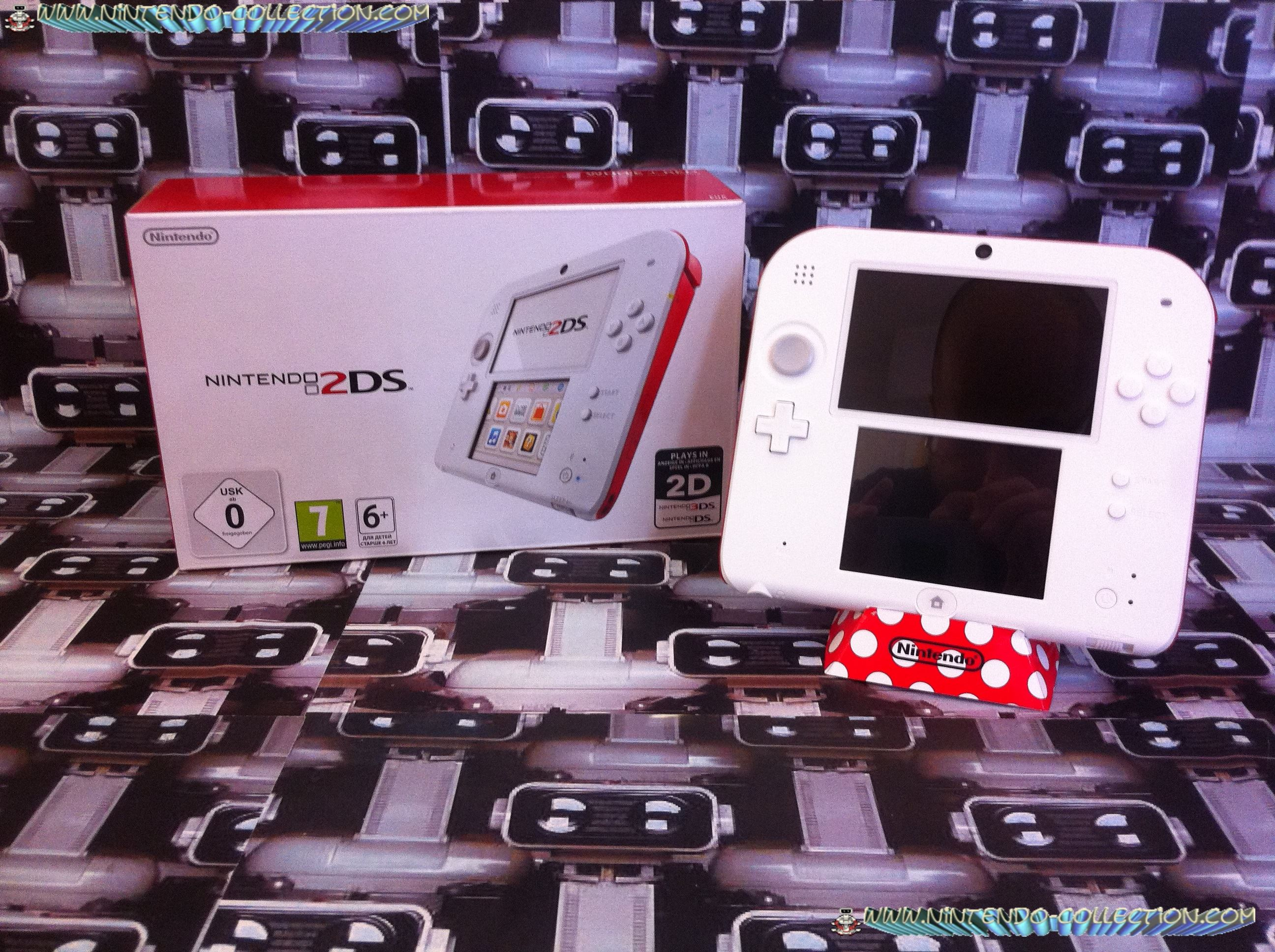 www.nintendo-collection.com - Nintendo 2DS Red White blanche rouge - 01