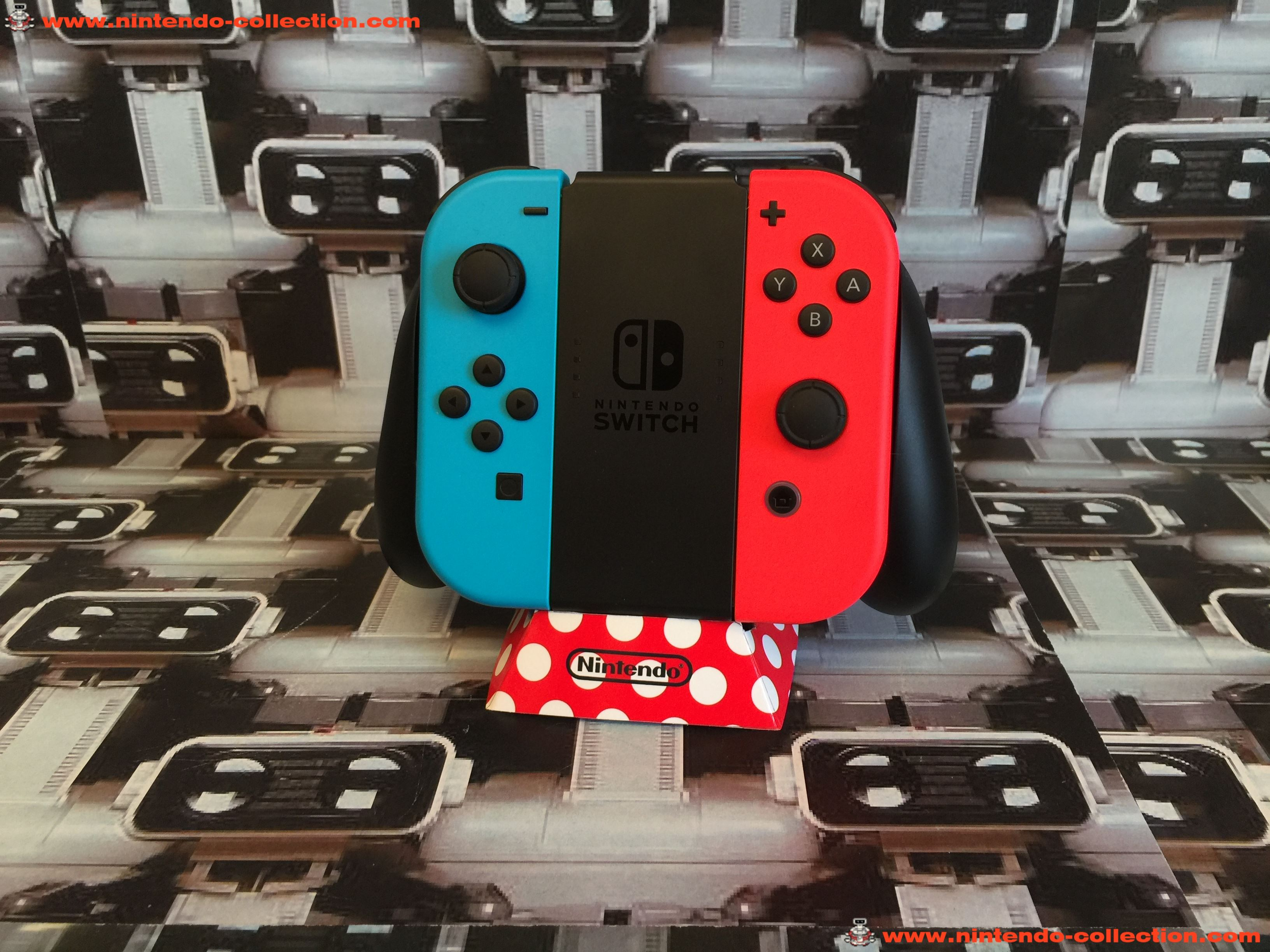 www.nintendo-collection.com - Nintendo Switch Joy-Con Pair Manette Neon Red Rouge Neon Blue Bleu  -