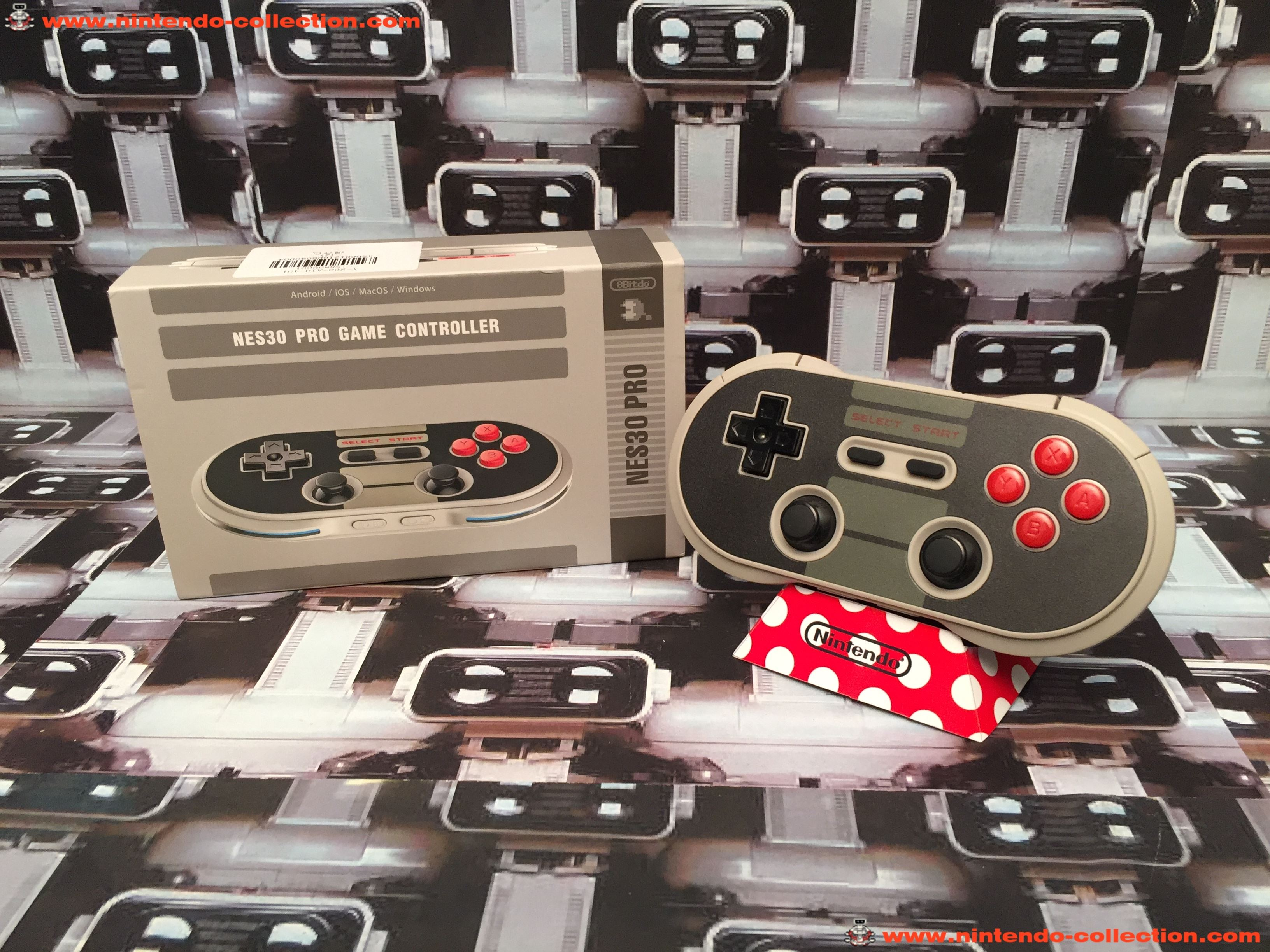 www.nintendo-collection.com - Nintendo Switch 8Bitdo NES30 Pro Bluetooth Game Controller Manette