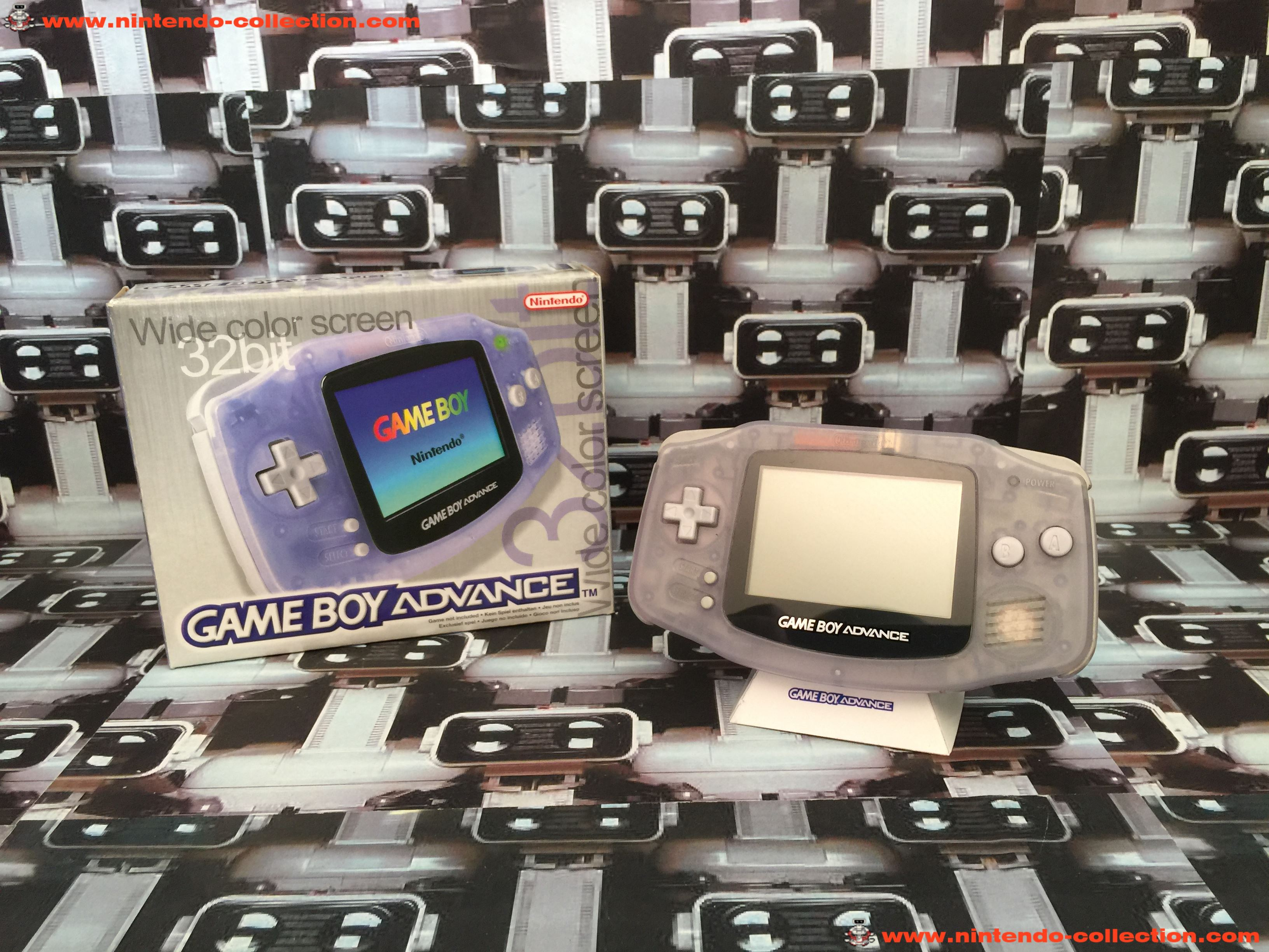 www.nintendo-collection.com - Gameboy Advance GBA Glacier Clear Purple Violet Transparent european e