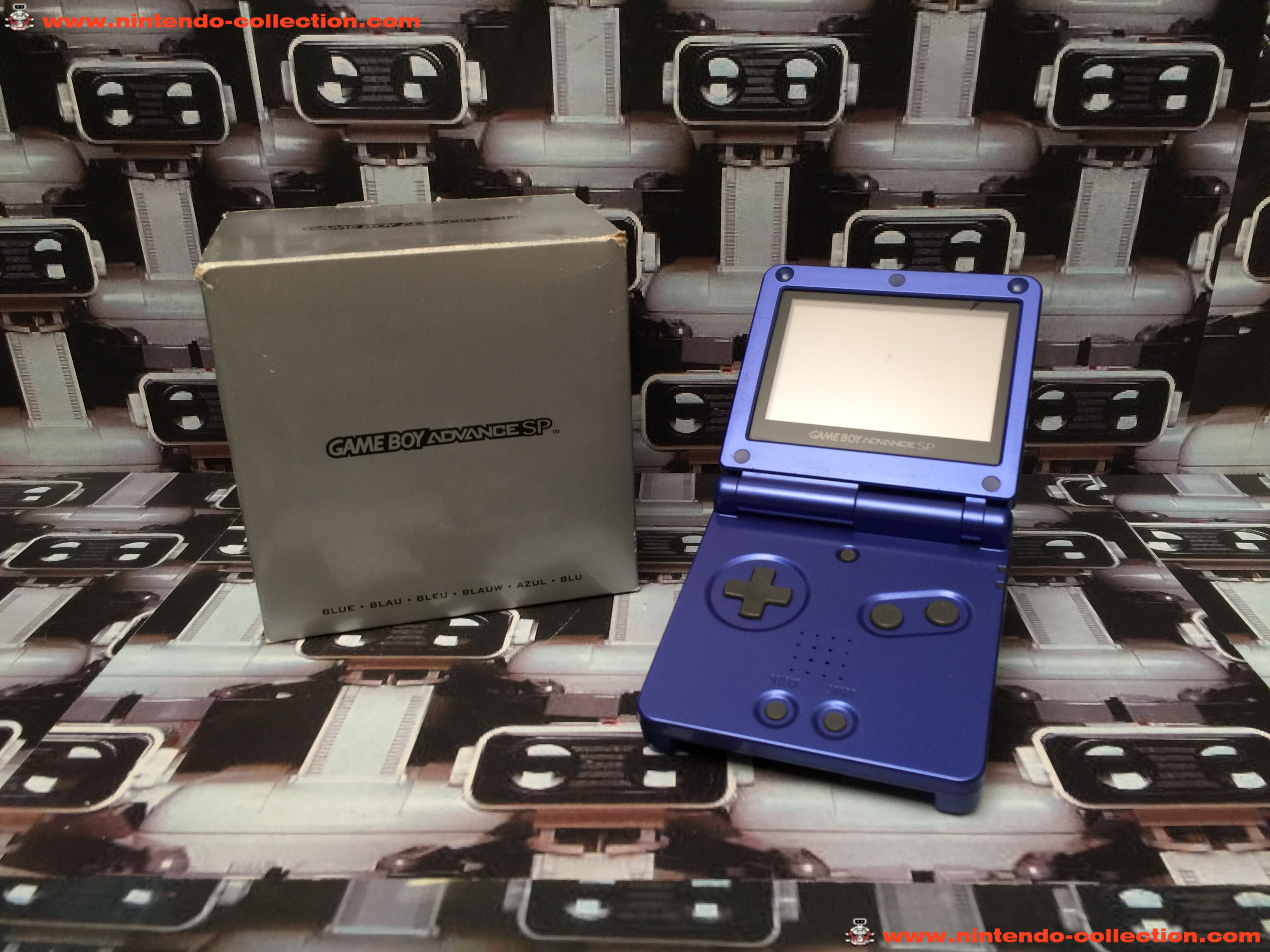 www.nintendo-collection.com - Gameboy Advance GBA SP Blue Bleu Edition europeenne european - 03