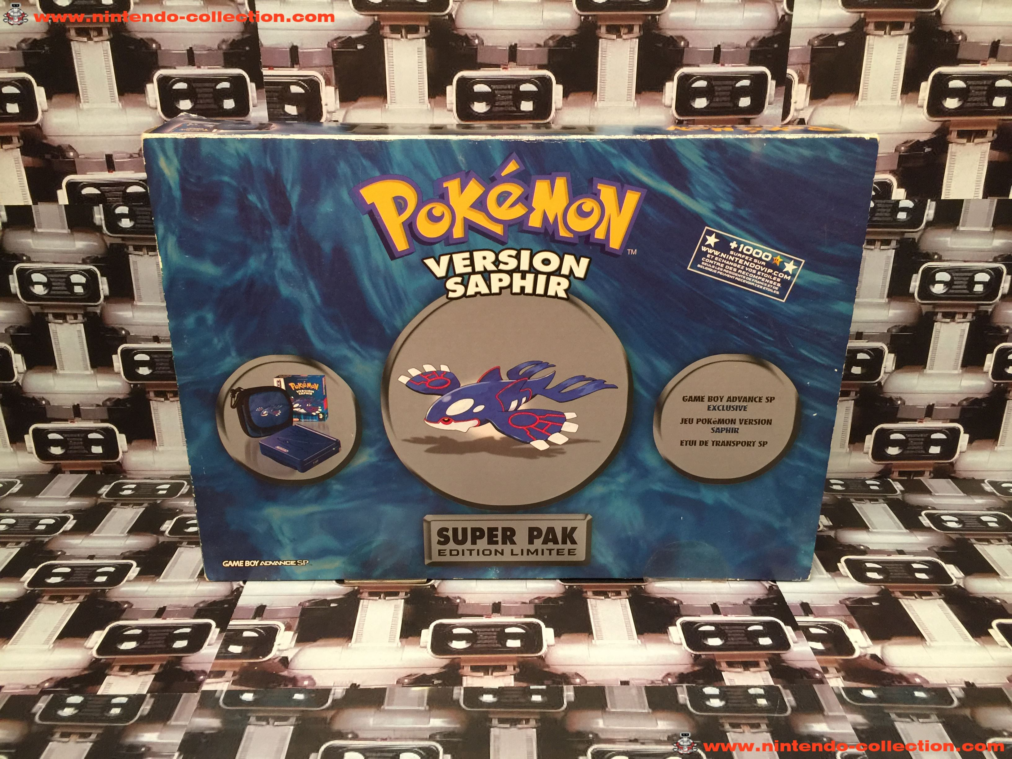 www.nintendo-collection.com - Gameboy Advance SP Super Pack Collector Pokemon Version Saphir - 01