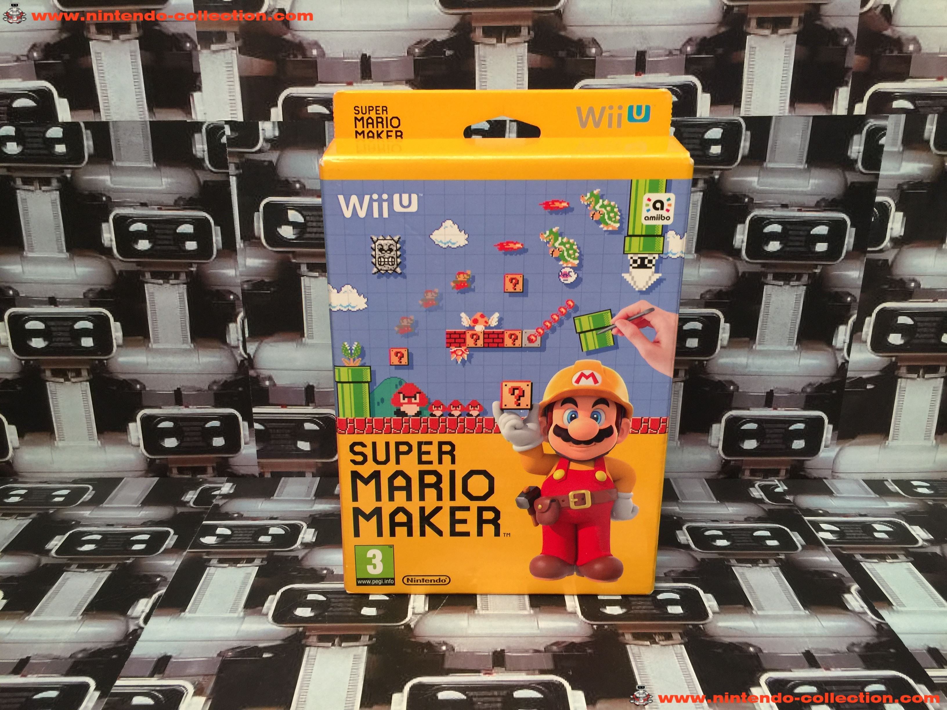 www.nintendo-collection.com - Wii U Game Jeux Super Mario Maker limited edition Mario 30th - 01
