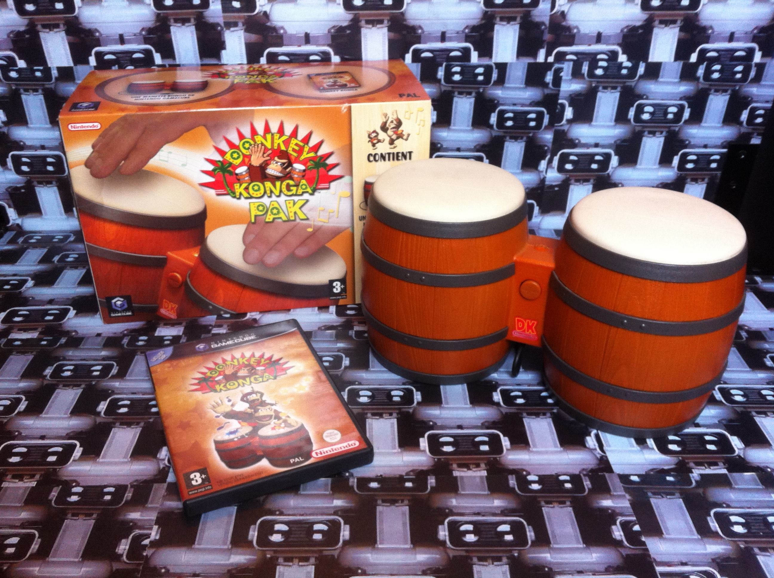 www.nintendo-collection.com - Gamecube  Game Jeux Donkey Konga Pak Pack european europeen