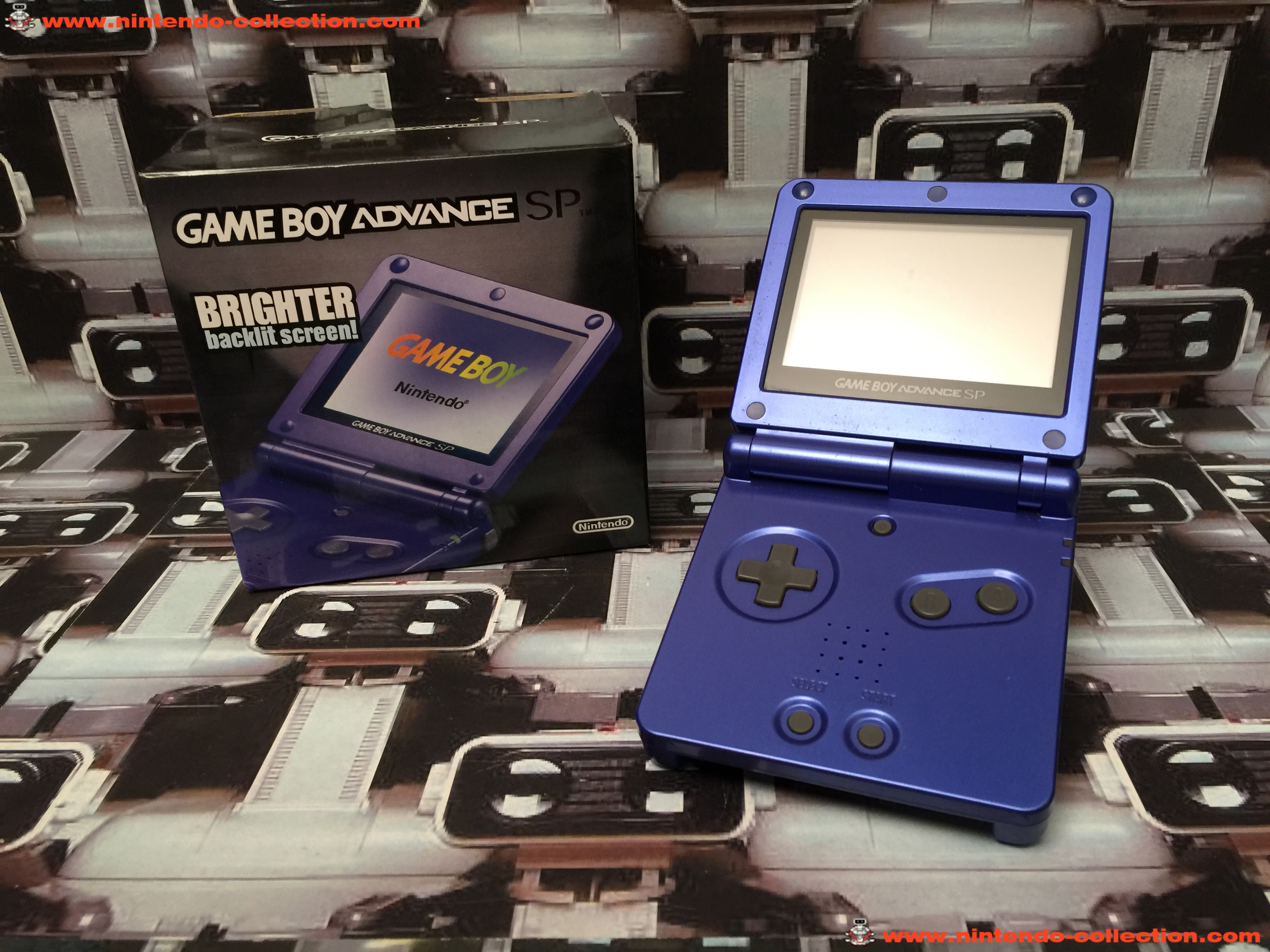 www.nintendo-collection.com - Gameboy Advance GBA SP Blue Bleu edition Singapour Singapore - 03