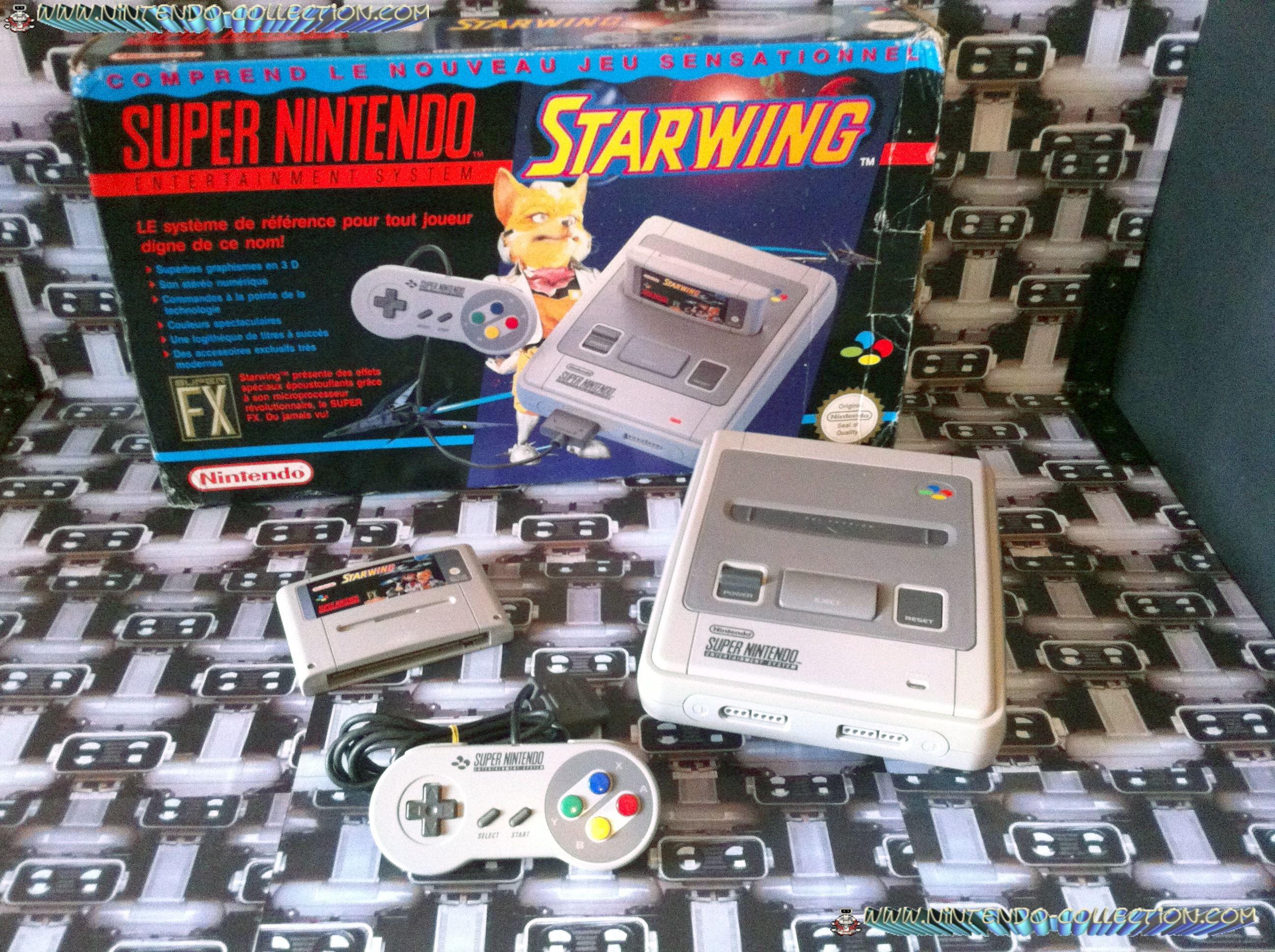 www.nintendo-collection.com - Super Nintendo Super Famicom Super Nes Pack Starwing
