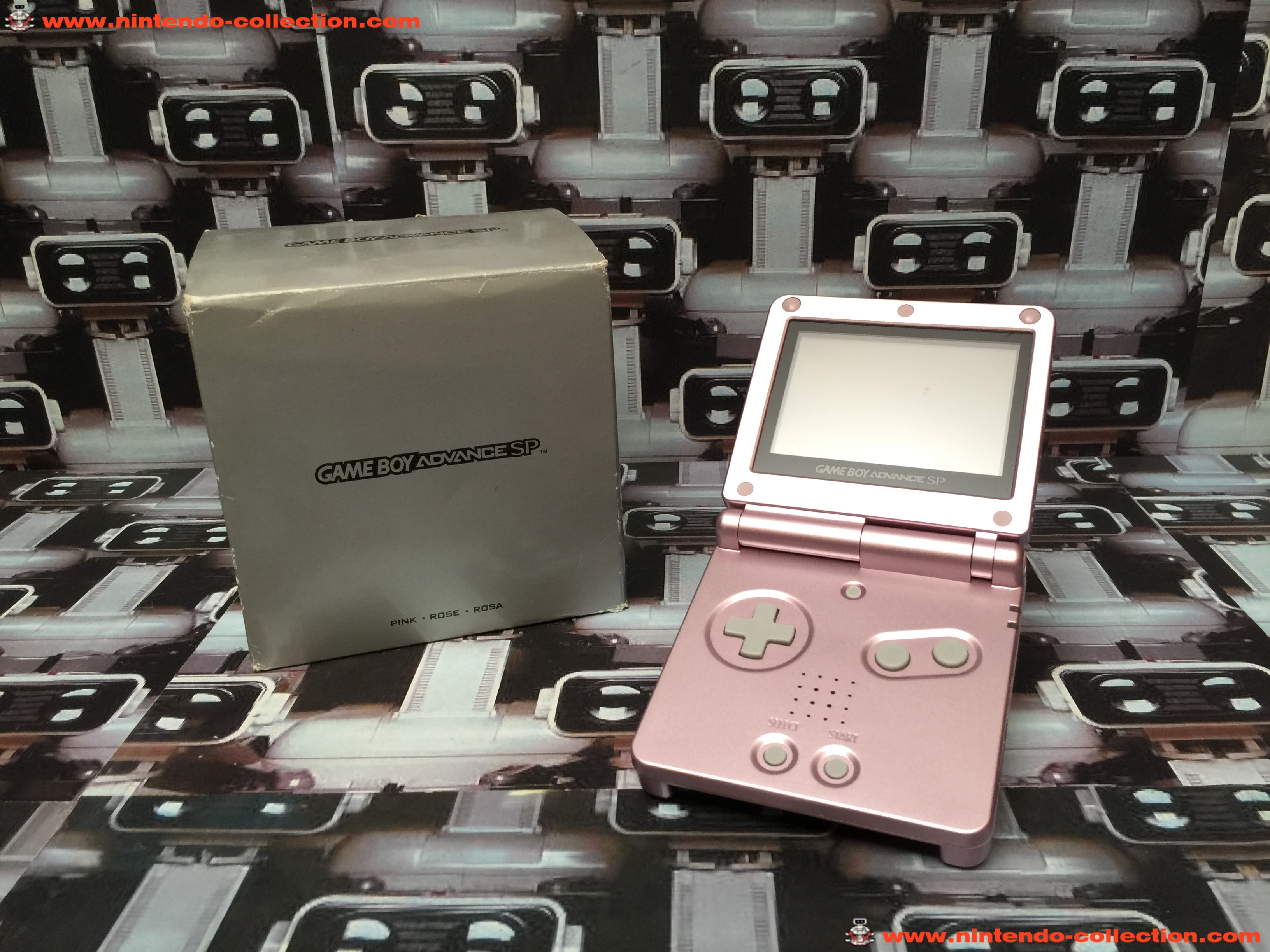www.nintendo-collection.com - Gameboy Advance GBA SP Pink Rose Edition europeenne european - 03