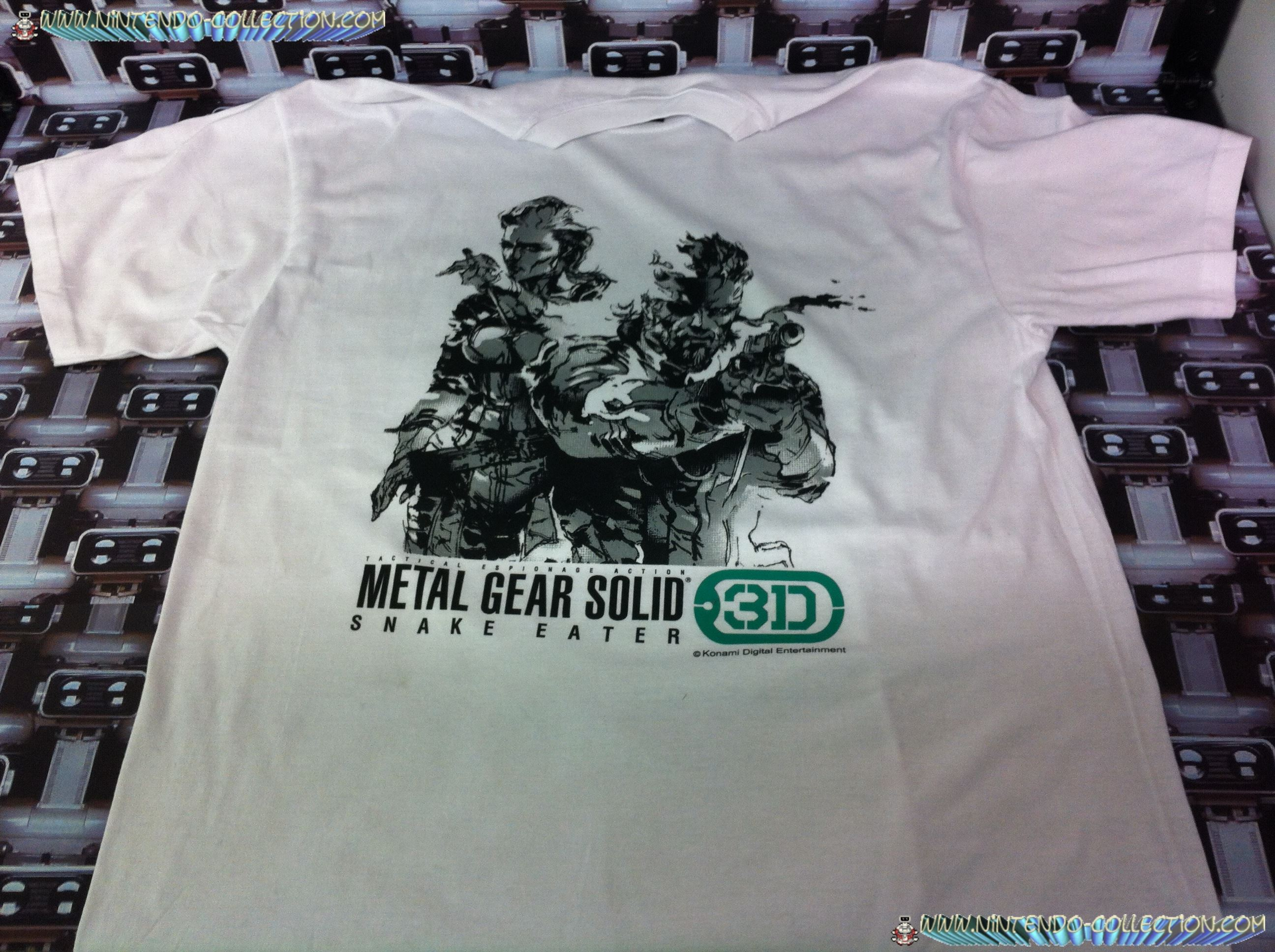 www.nintendo-collection.com - Tee-Shirt de pre-reservation de Metal Gear Solid Snake Eater 3D - Nor