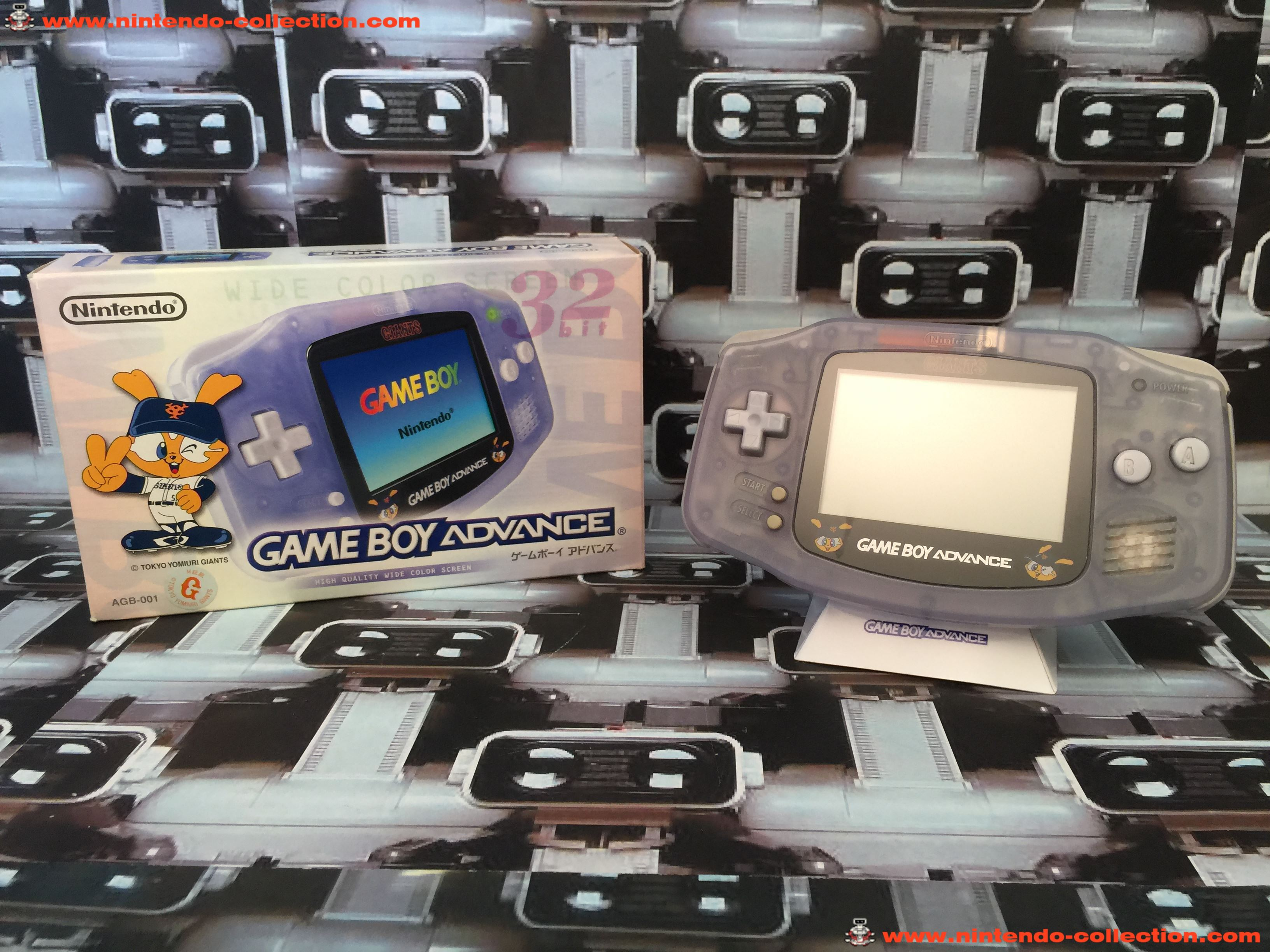 www.nintendo-collection.com - Gameboy Advance GBA Tokio Yomiuri Giants Limited Edition Glacier Clear